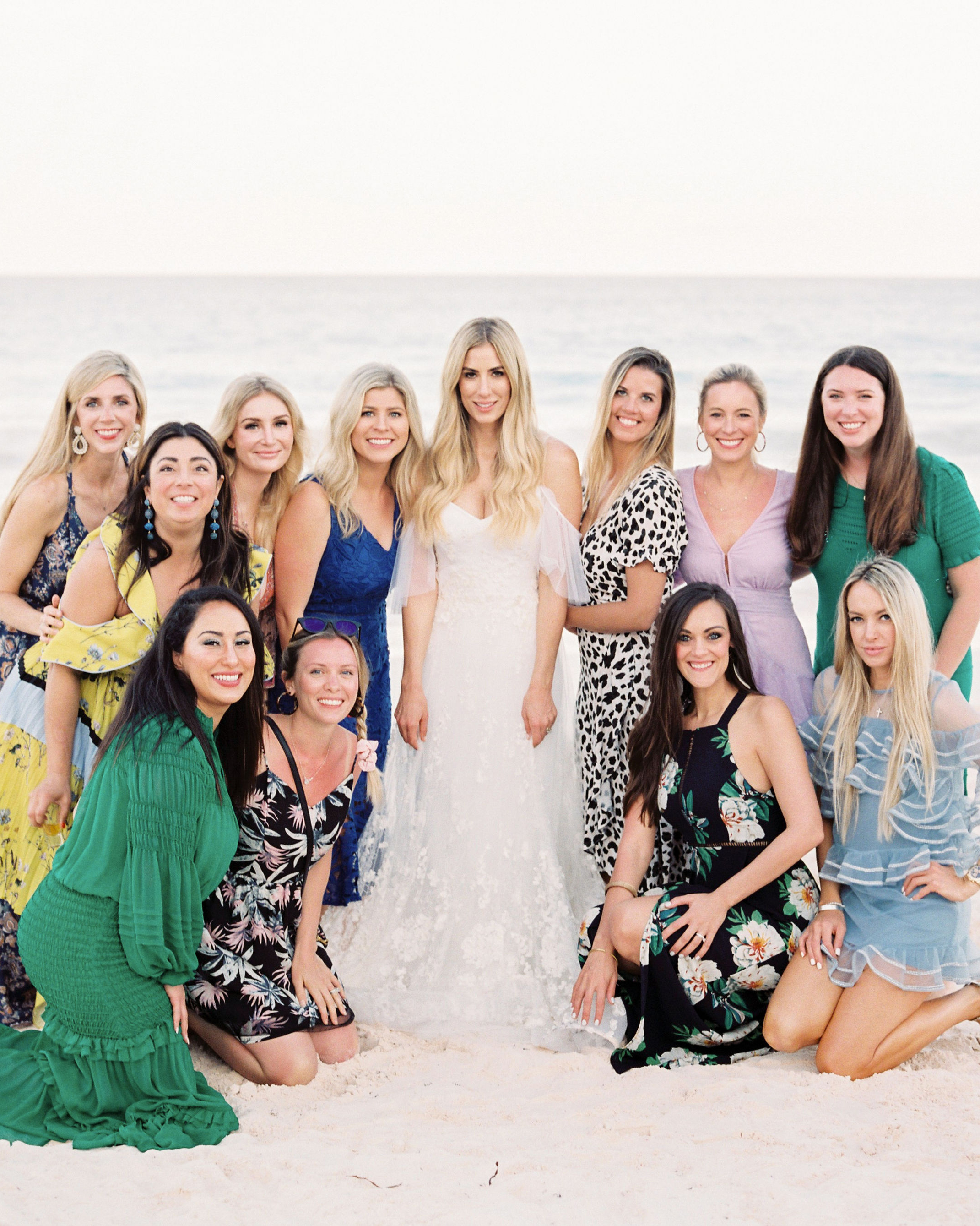 bride with female wedding guests