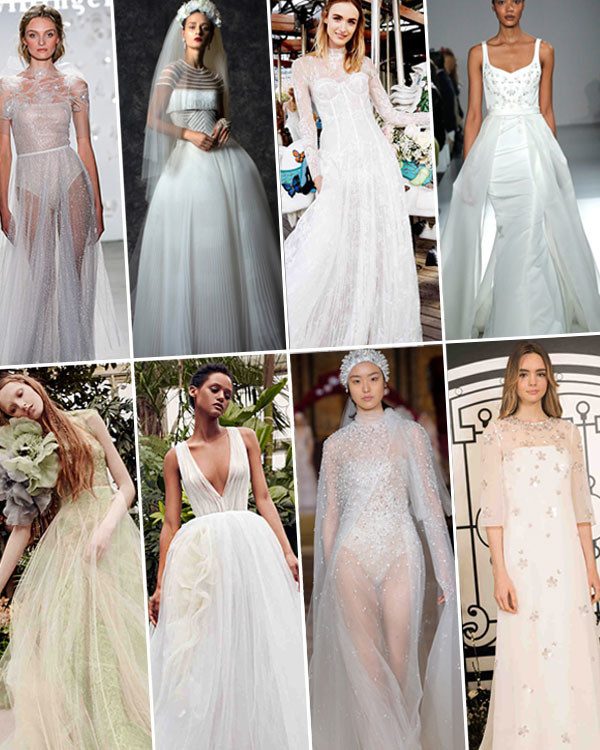 Wedding Hairstyle Trends 2020: Wedding Dress Trends From Spring 2020 Bridal Fashion Week