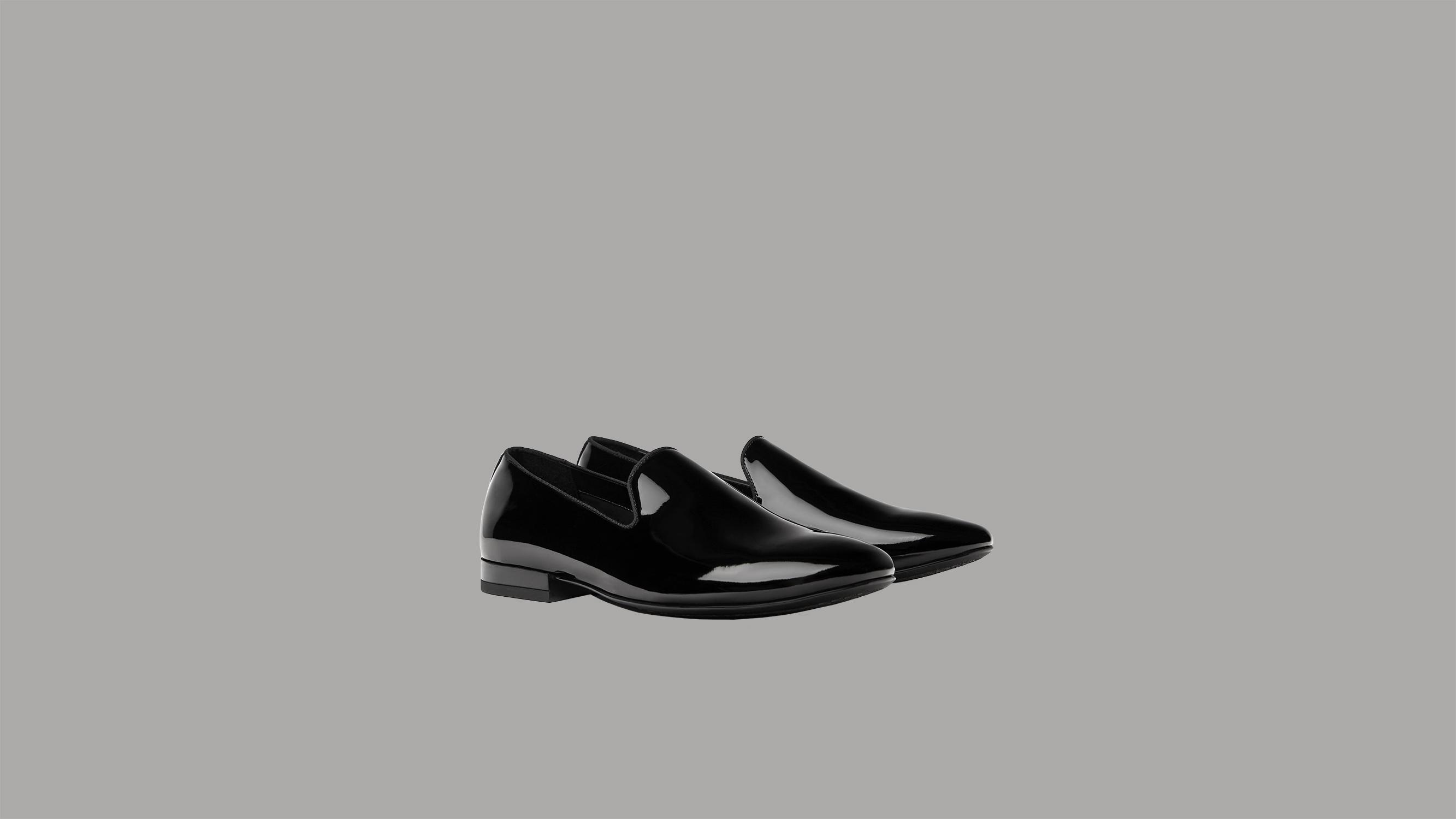 Zara Patent Finish Loafers