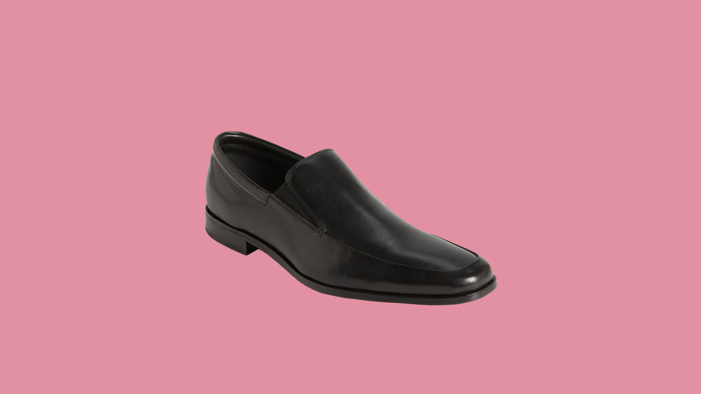 "Gordon Rush ""Elliot"" Leather Apron-Toe Loafers"