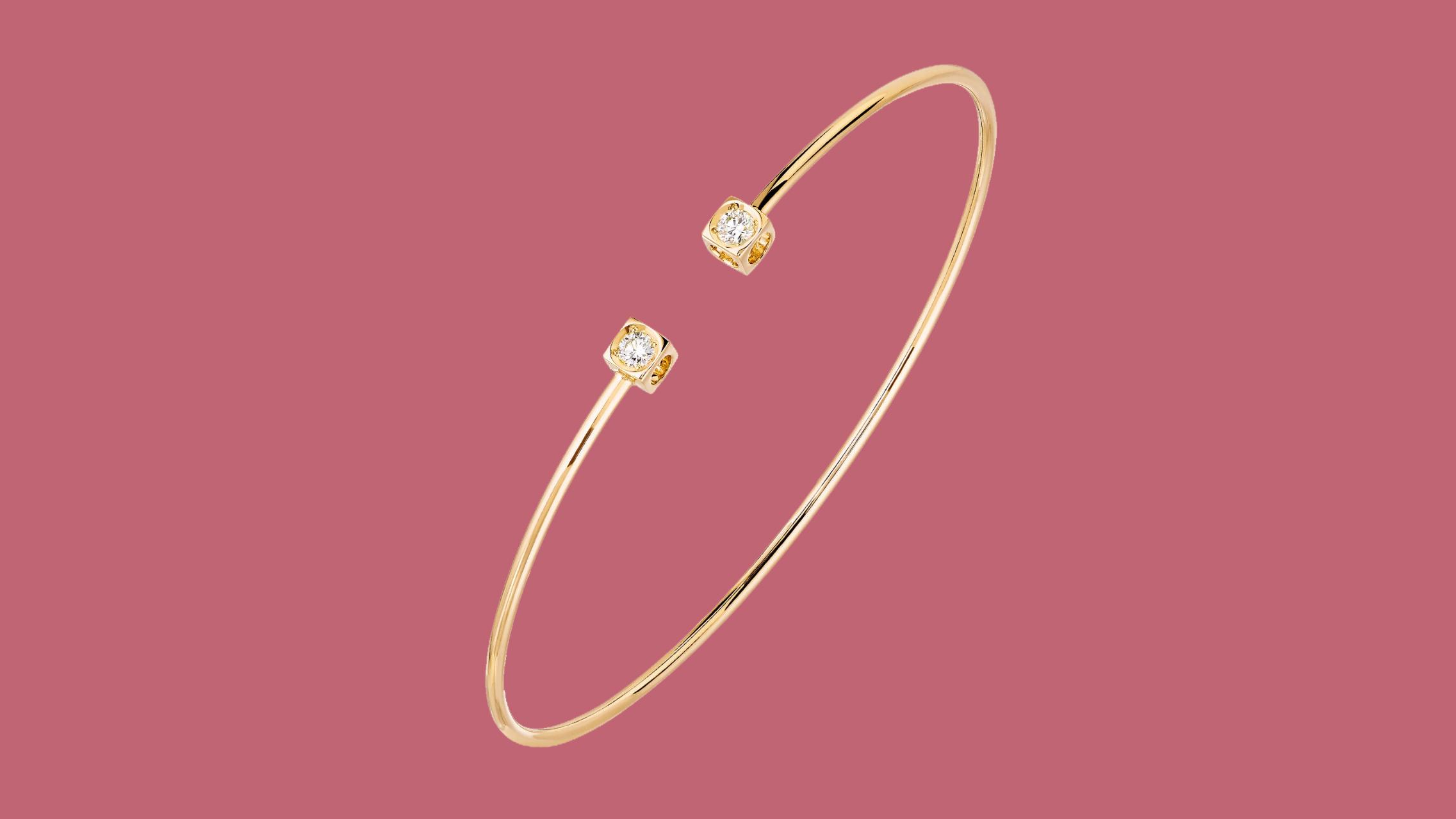 "Dinh Van Jewelry Small ""Le Cube"" Diamant Bracelet"
