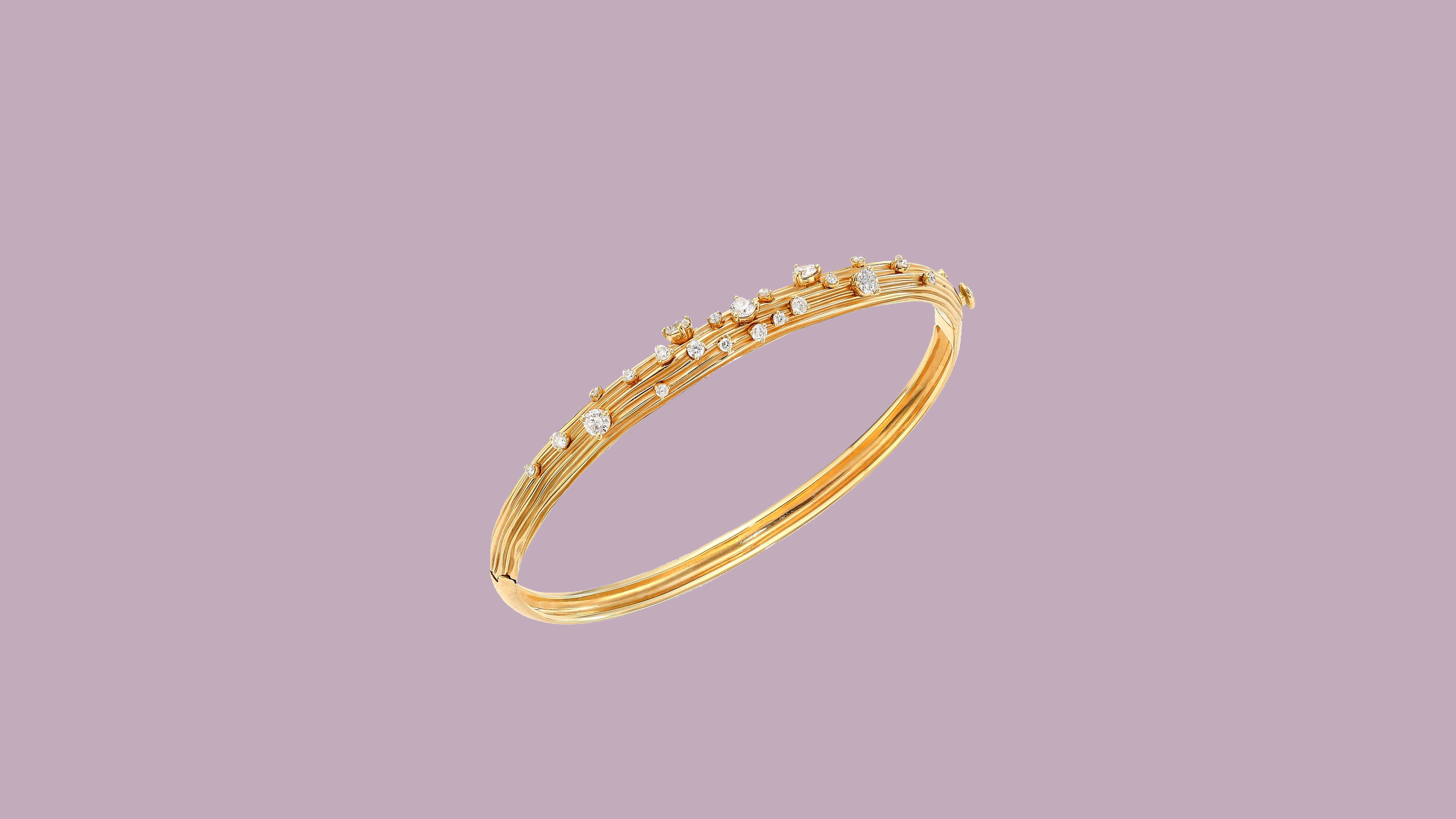 Hueb Plisse 18-karat Gold Diamond Bracelet