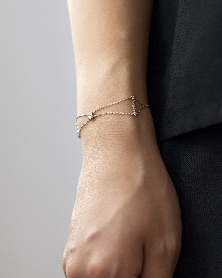 "Kataoka Golden ""Pavilion"" Bracelet"