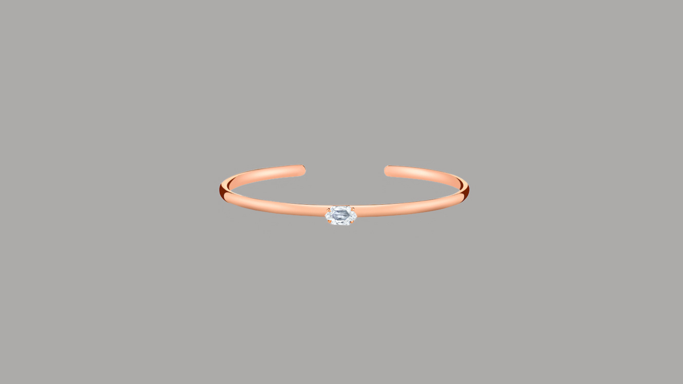 Anita Ko Rose Gold Step-Cut Hexagon Diamond Cuff