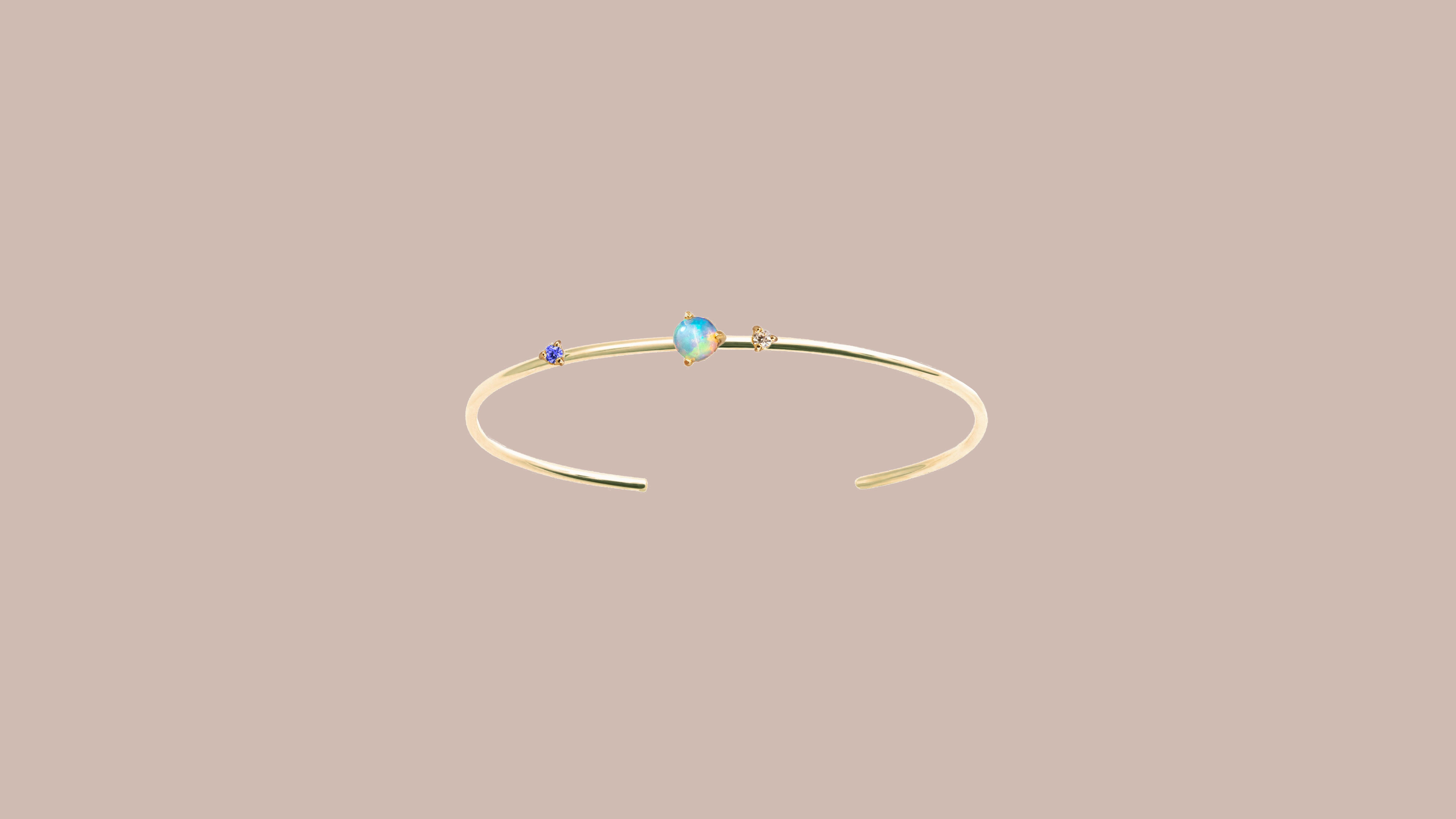 Wwake Three-Stone Opal Cuff