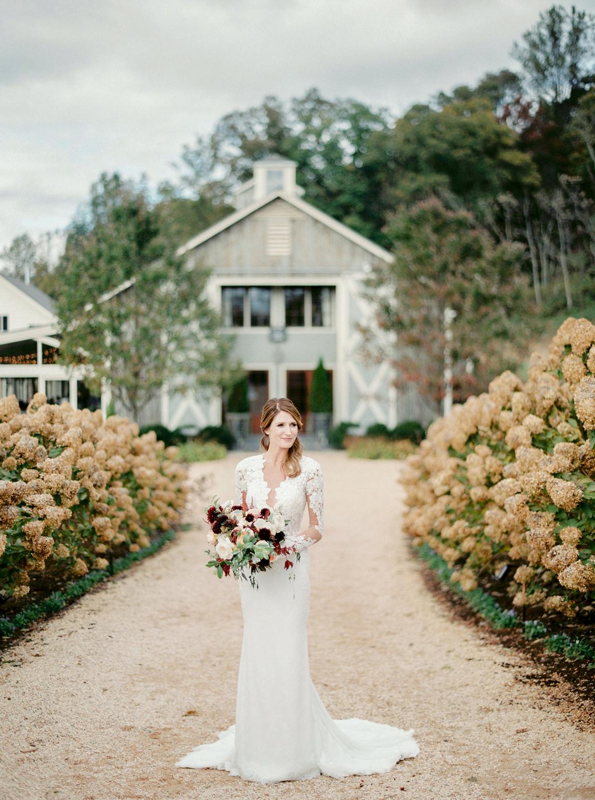 long sleeve lace train Ines Di Santo wedding dress