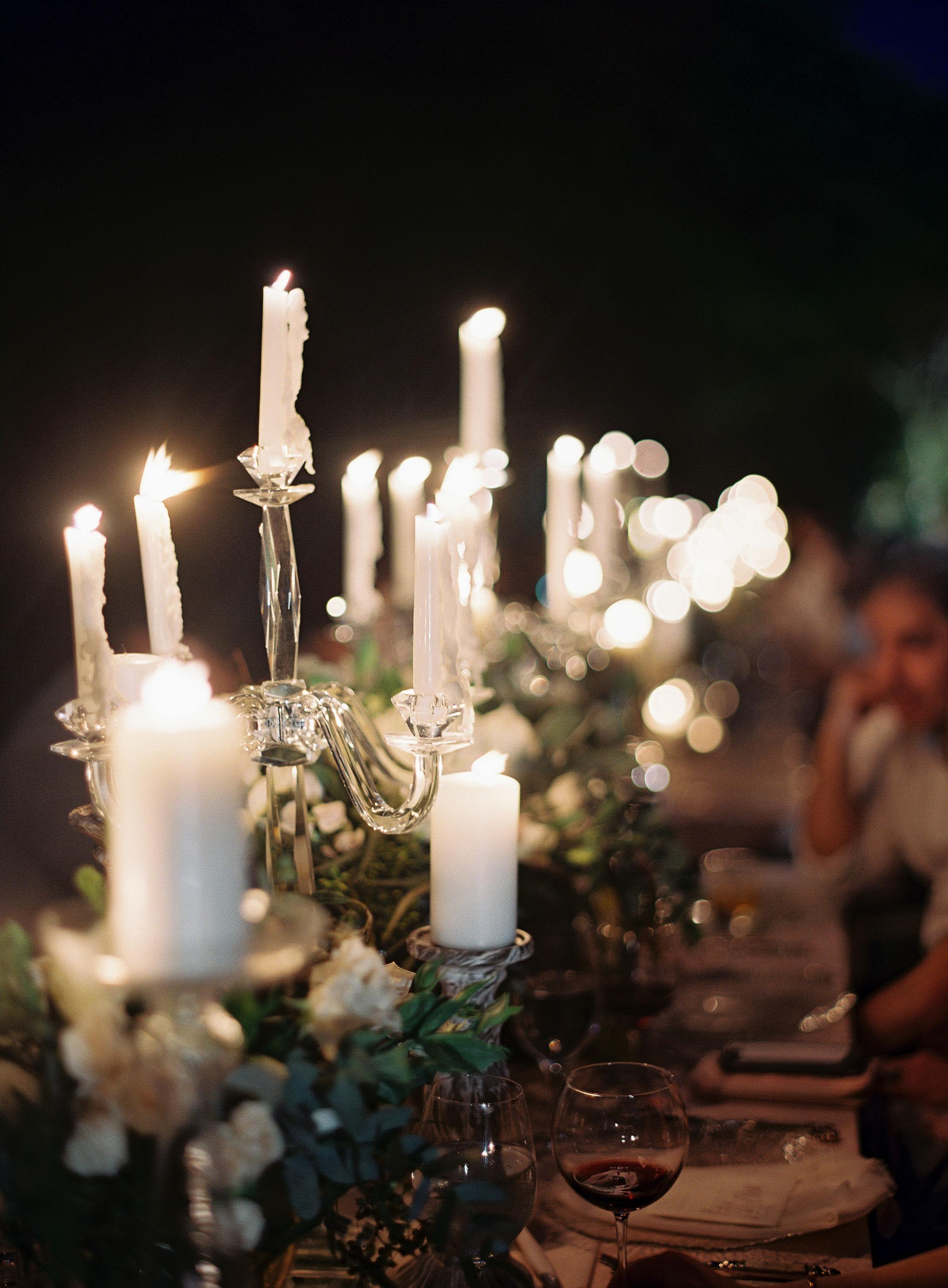 jessica ryan wedding nigh reception candles