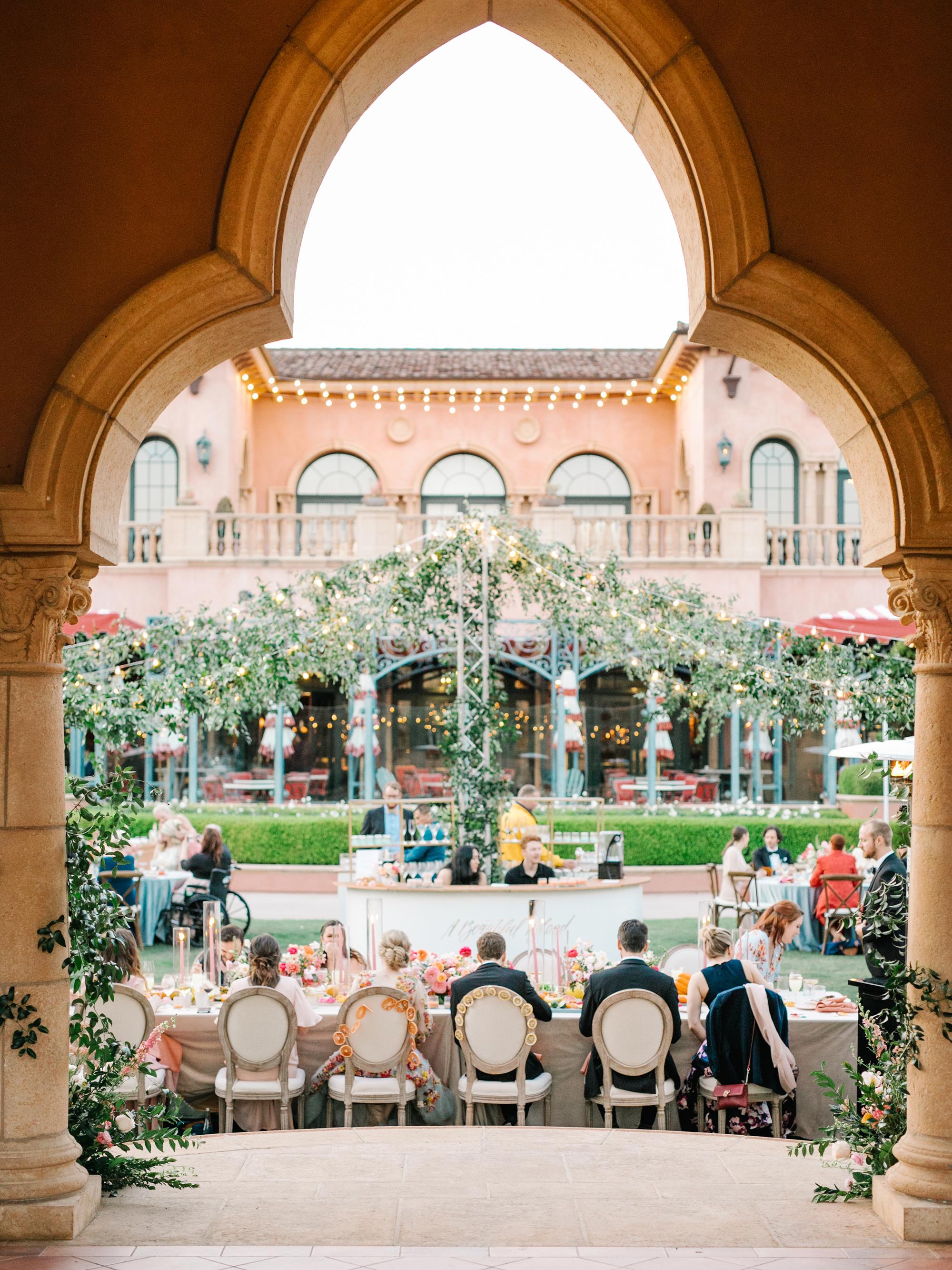 cavin david wedding round reception view