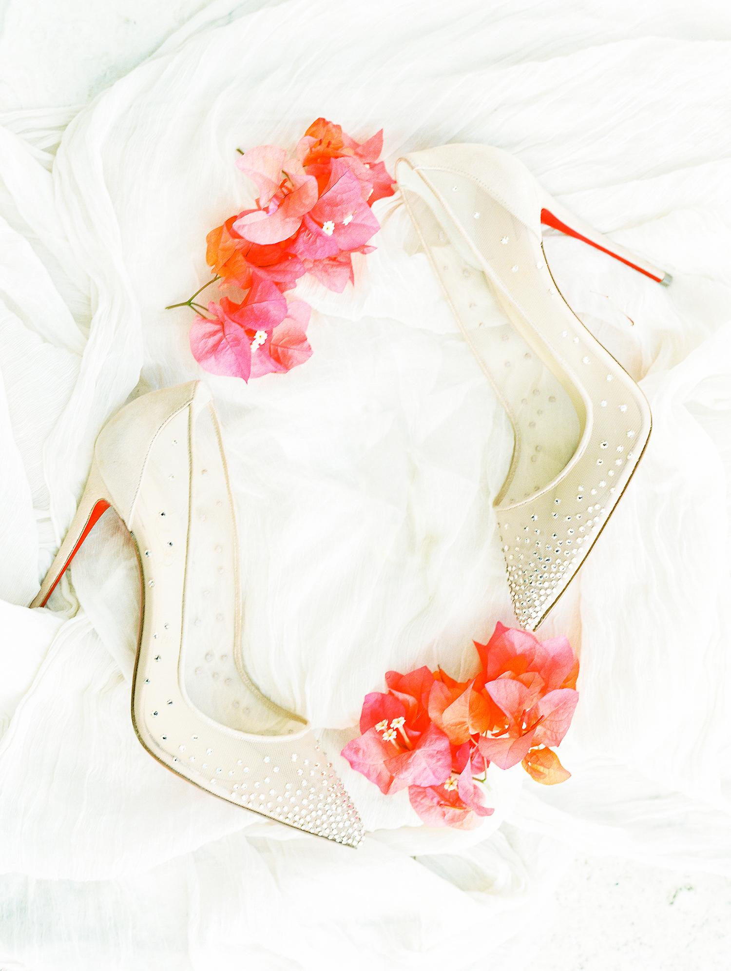 melissa leighton wedding bride's white shoes