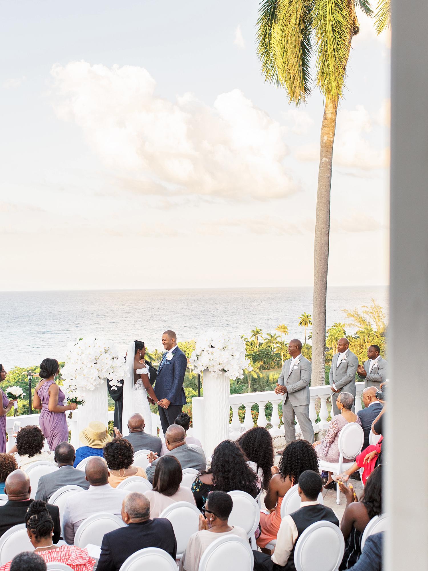 melissa leighton wedding ceremony overlooking water