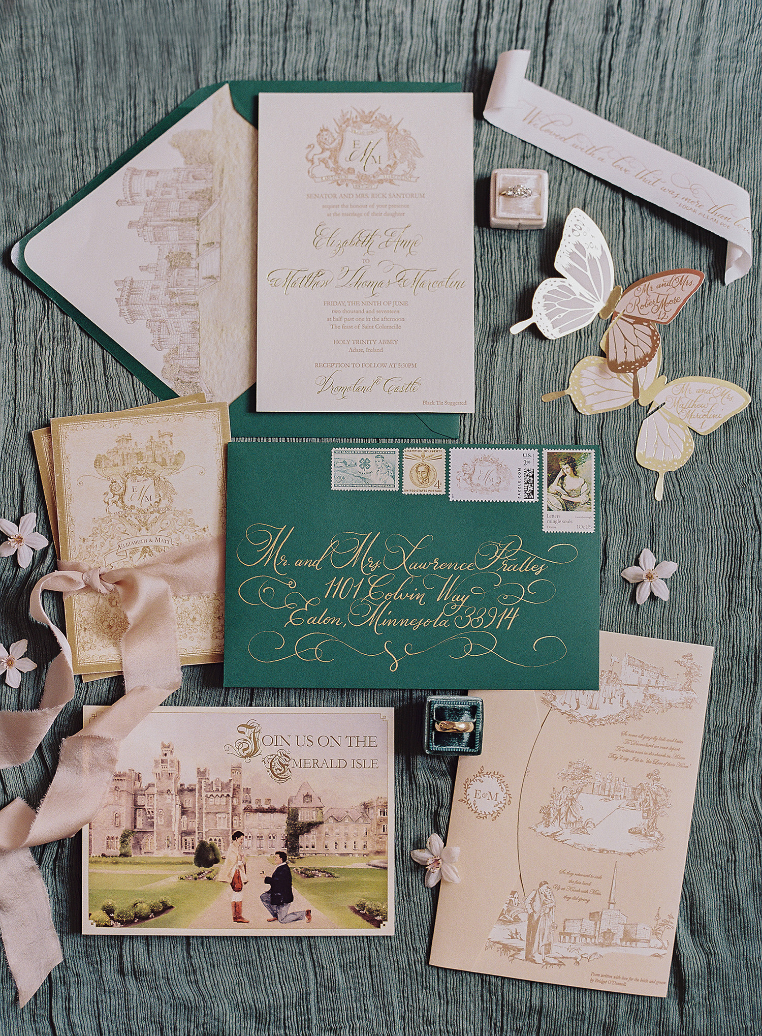 The Best Vintage Wedding Invitations Martha Stewart Weddings