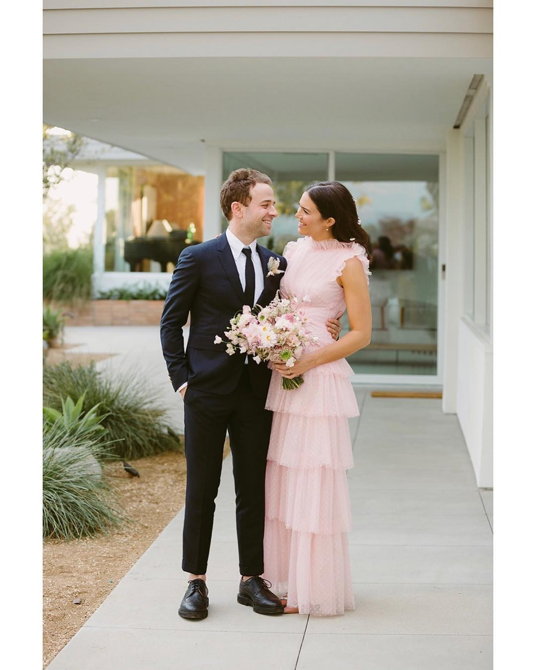 Celebrity Wedding Gown: Celebrity Brides Who Wore Bold Colors On Their Wedding