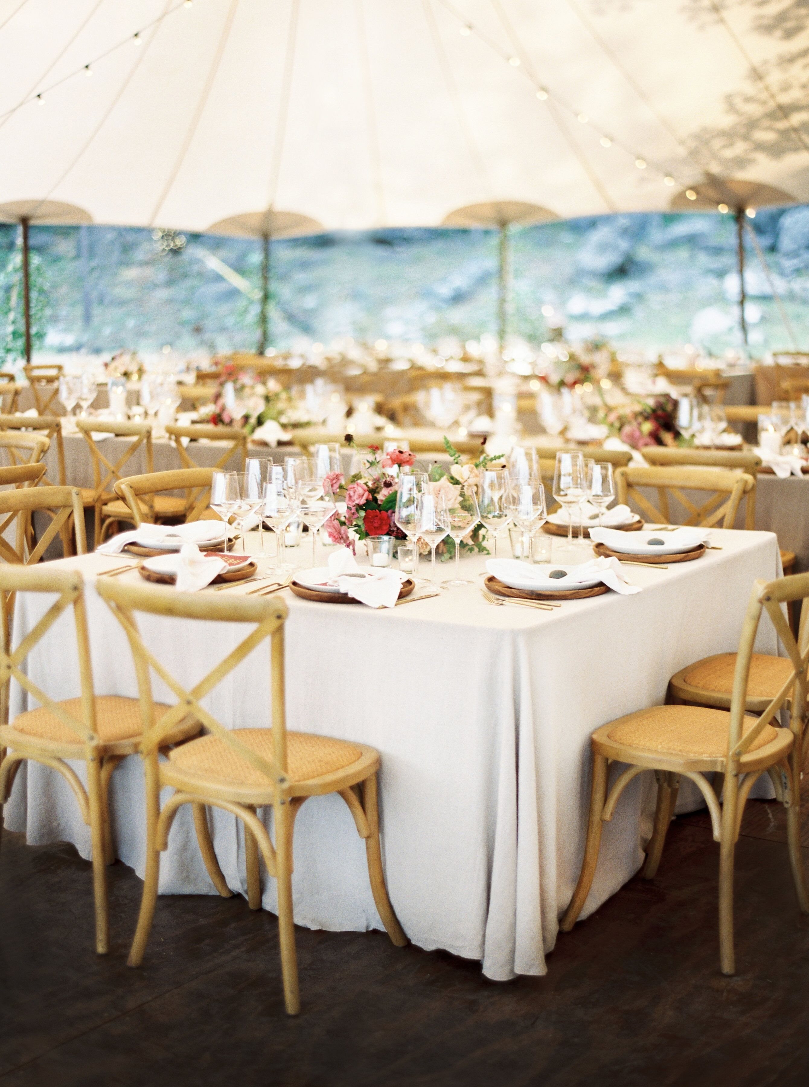 kelsey jacob wedding reception tables in tent
