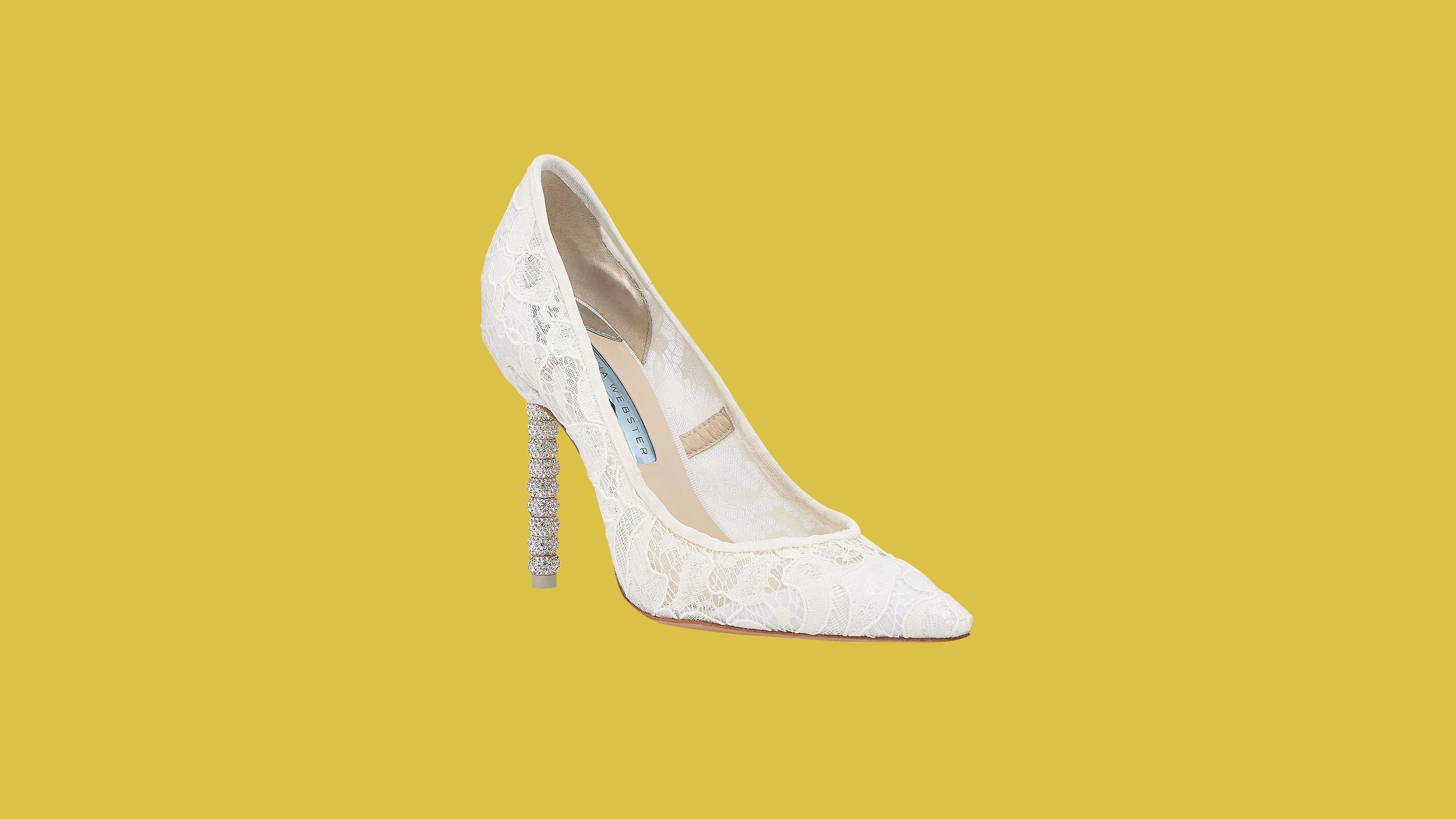 "Sophia Webster ""Coco"" Crystal Lace Bridal Pumps"