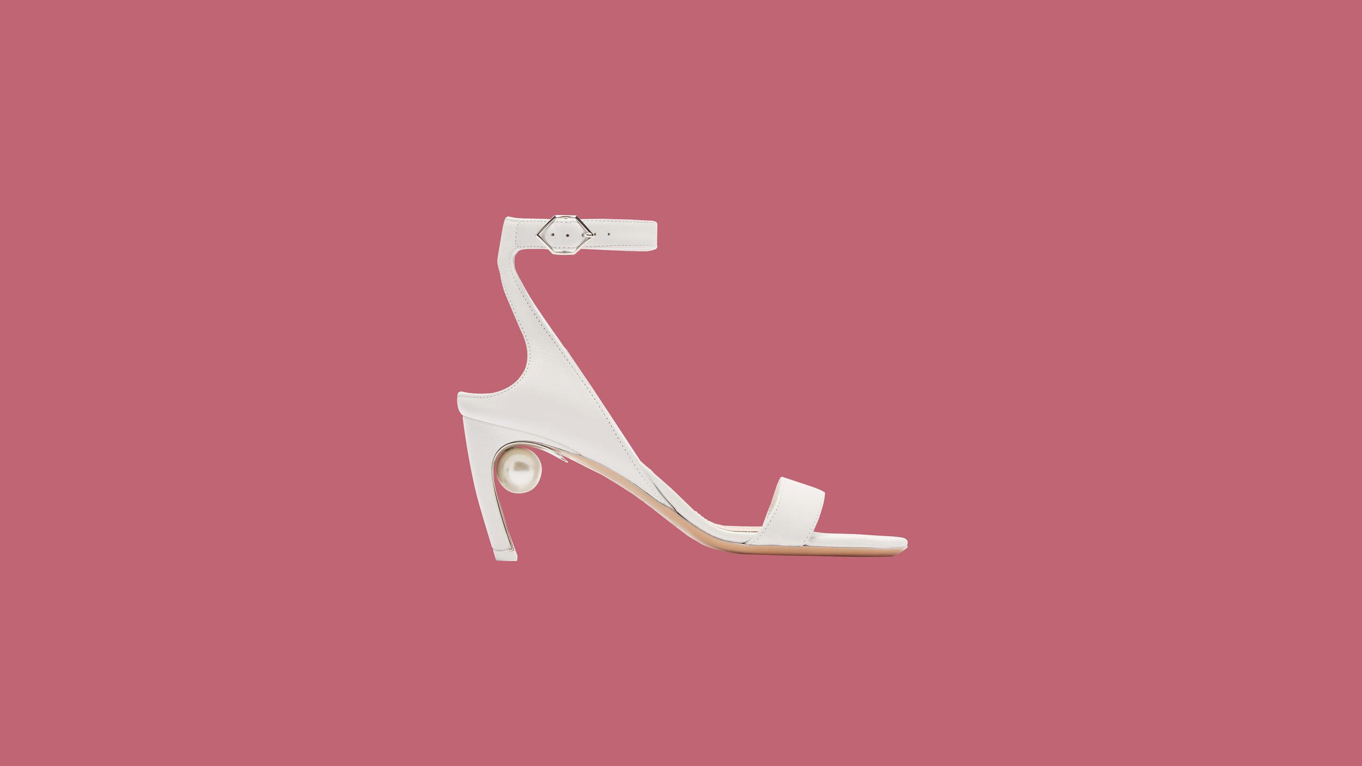 """Nicholas Kirkwood """"Lola"""" Faux Pearl-Heeled Leather Sandals"""
