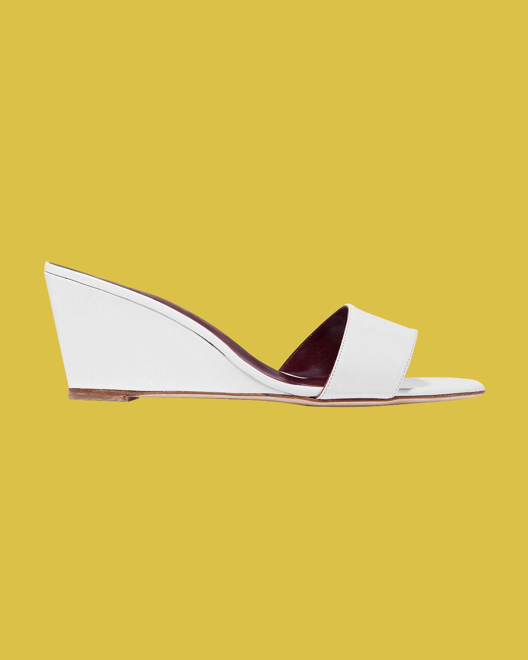 """Staud """"Billie"""" Leather Wedge Sandals"""