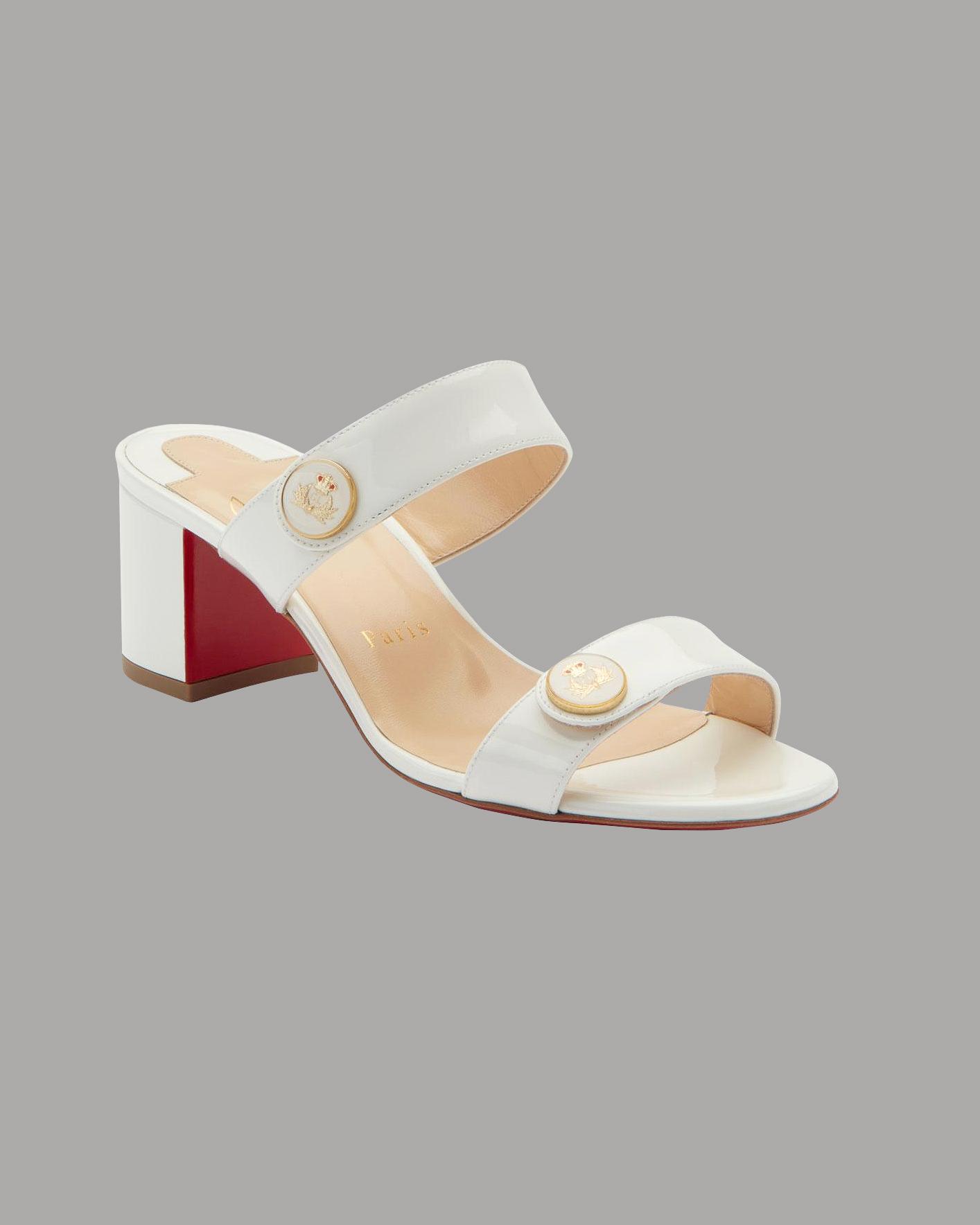 "Christian Louboutin ""La Saviata 55"" Slide Sandals"
