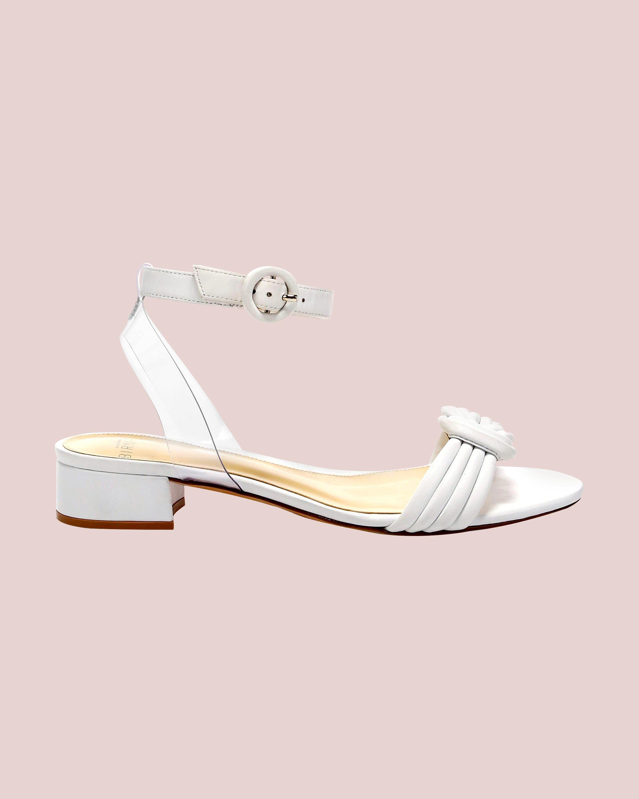 """Alexandre Birman """"Vicky"""" Leather Knot Ankle-Strap Sandals"""