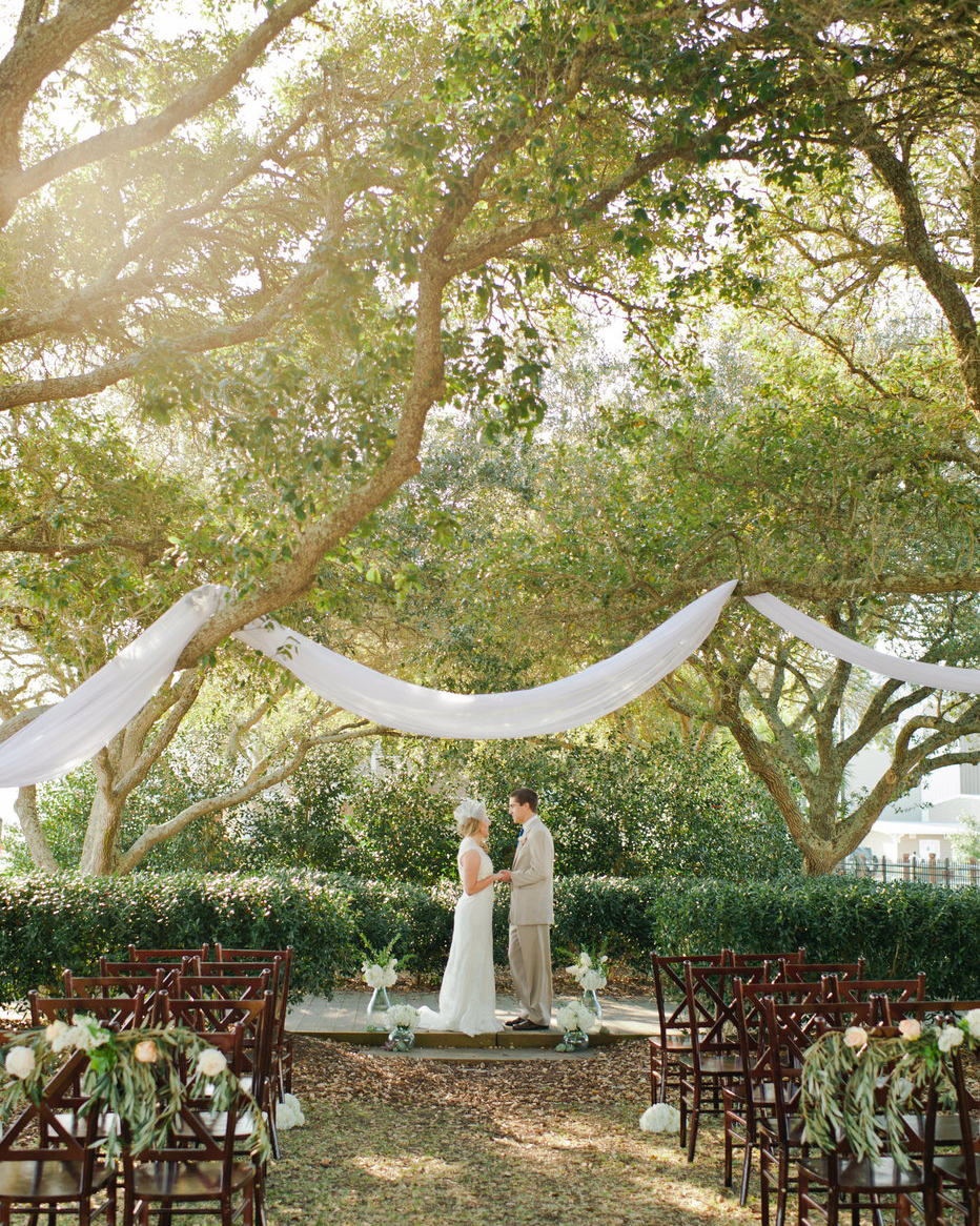 draping wedding ceremony decor