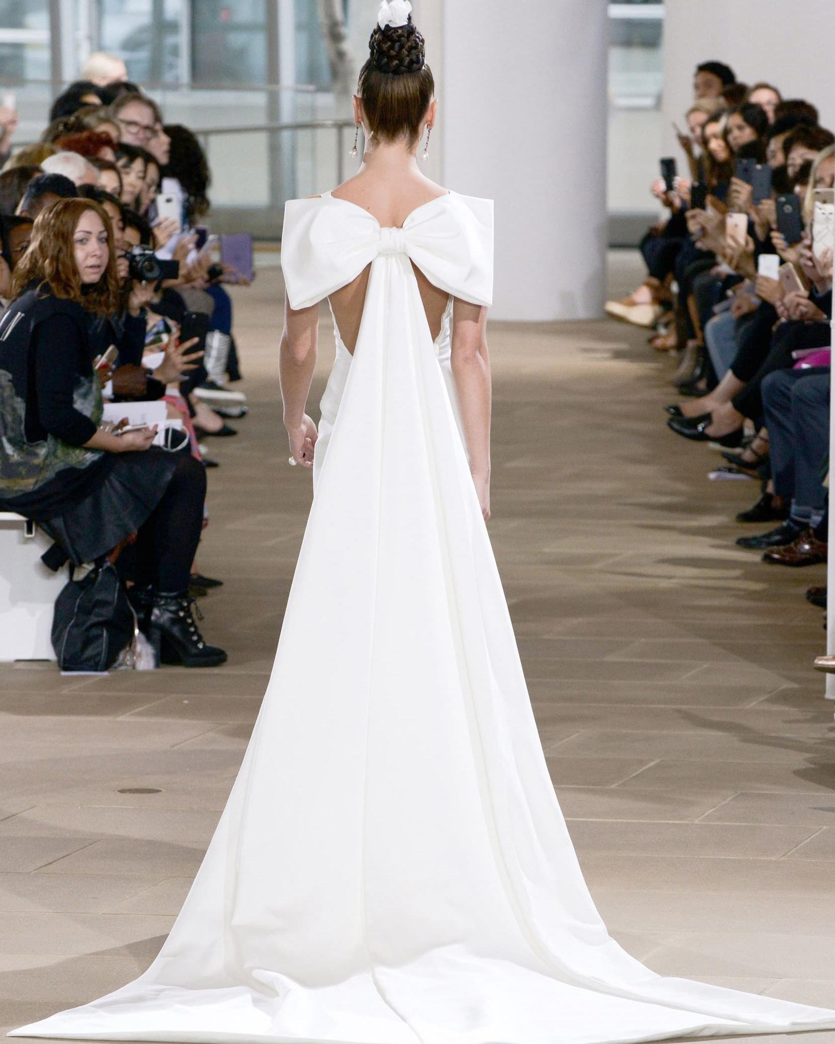"Ines di Santo ""Promise"" Detachable Bow and Train wedding dress"