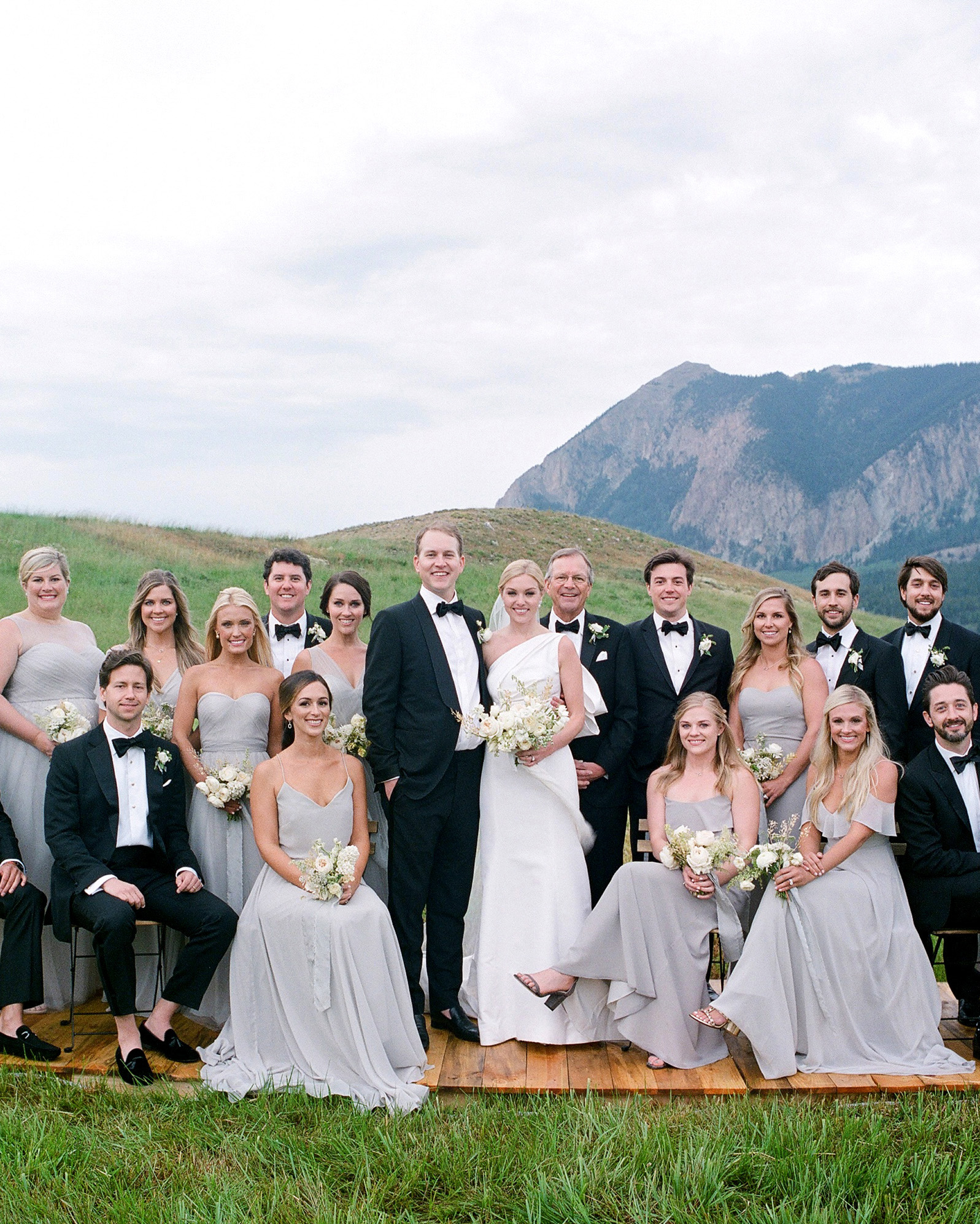 sloan scott wedding party with mountain backdrop