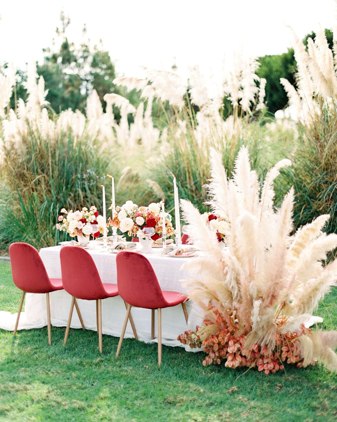 Debenhams Wedding Service Gift List Number: Trending Now: Pampas Grass Wedding Ideas