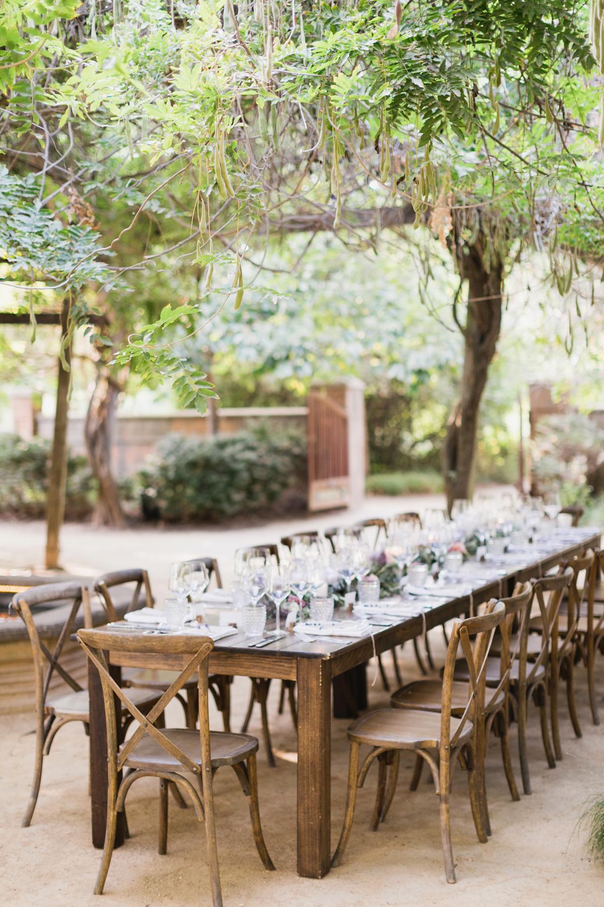 "Campovida's ""Tuscan Garden"" reception venue"