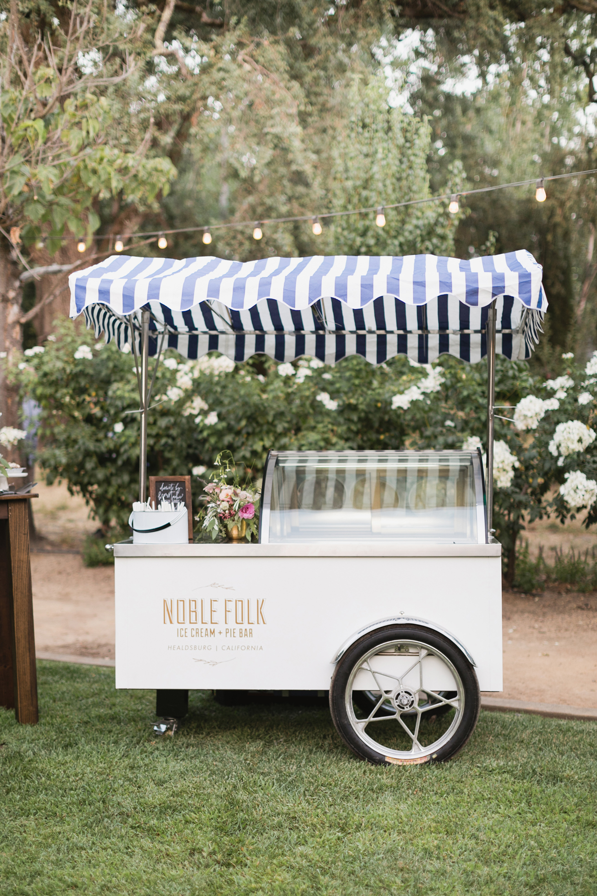 ice cream cart cocktail hour