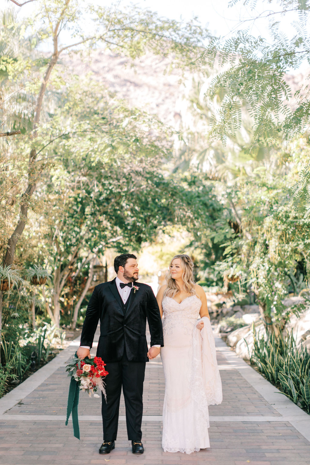 This Bohemian Desert Wedding in Palm Springs Featured Plenty of Art Deco Details