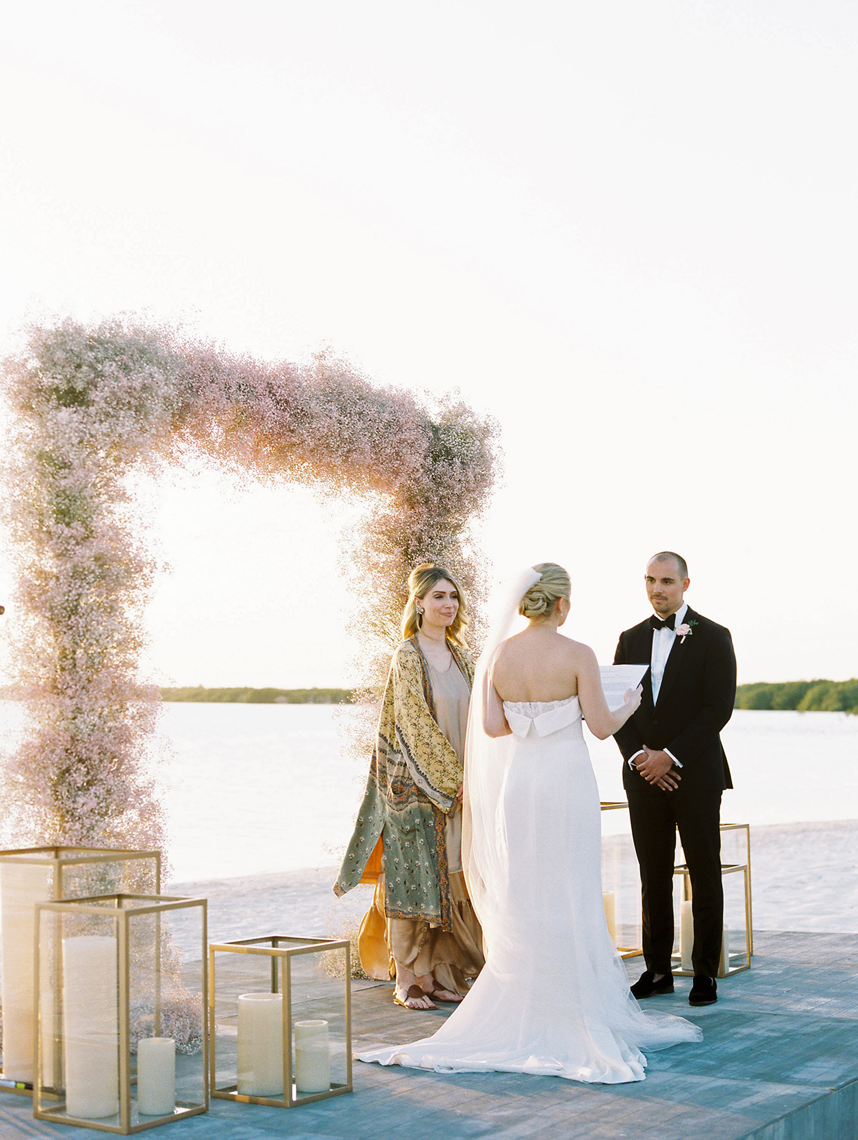 katie nick wedding vows by water