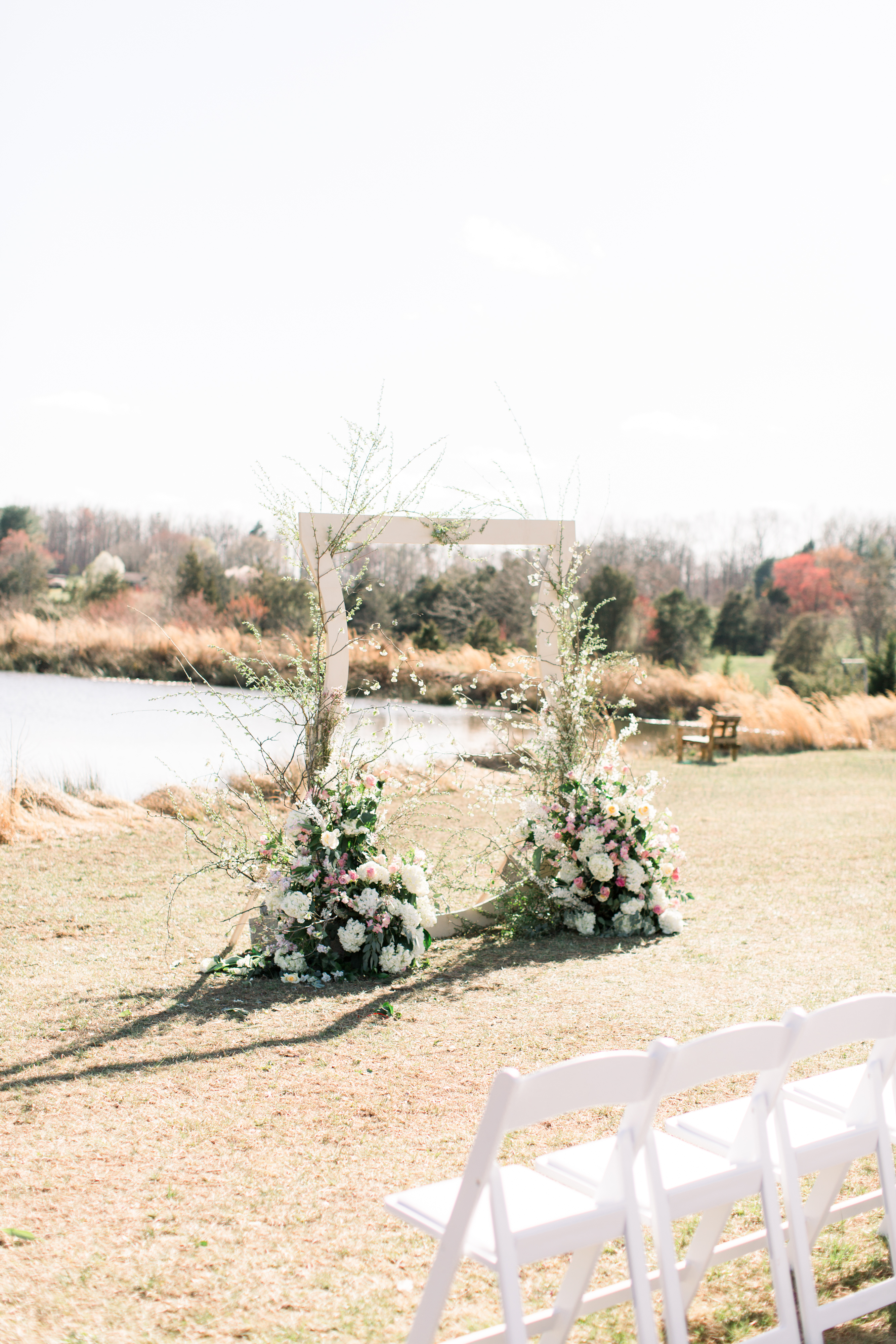michelle nathan wedding ceremony arch