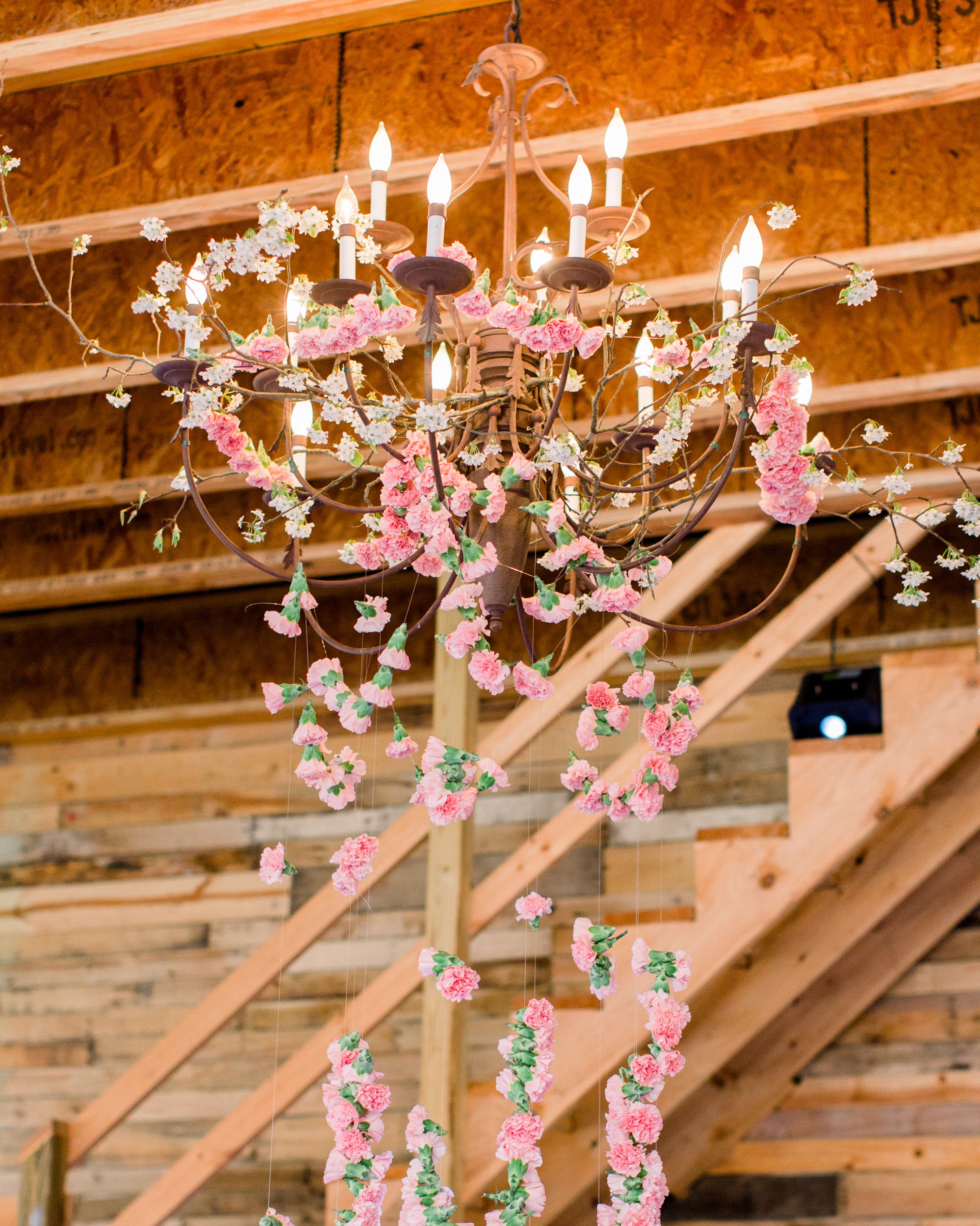 michelle nathan wedding flower chandelier