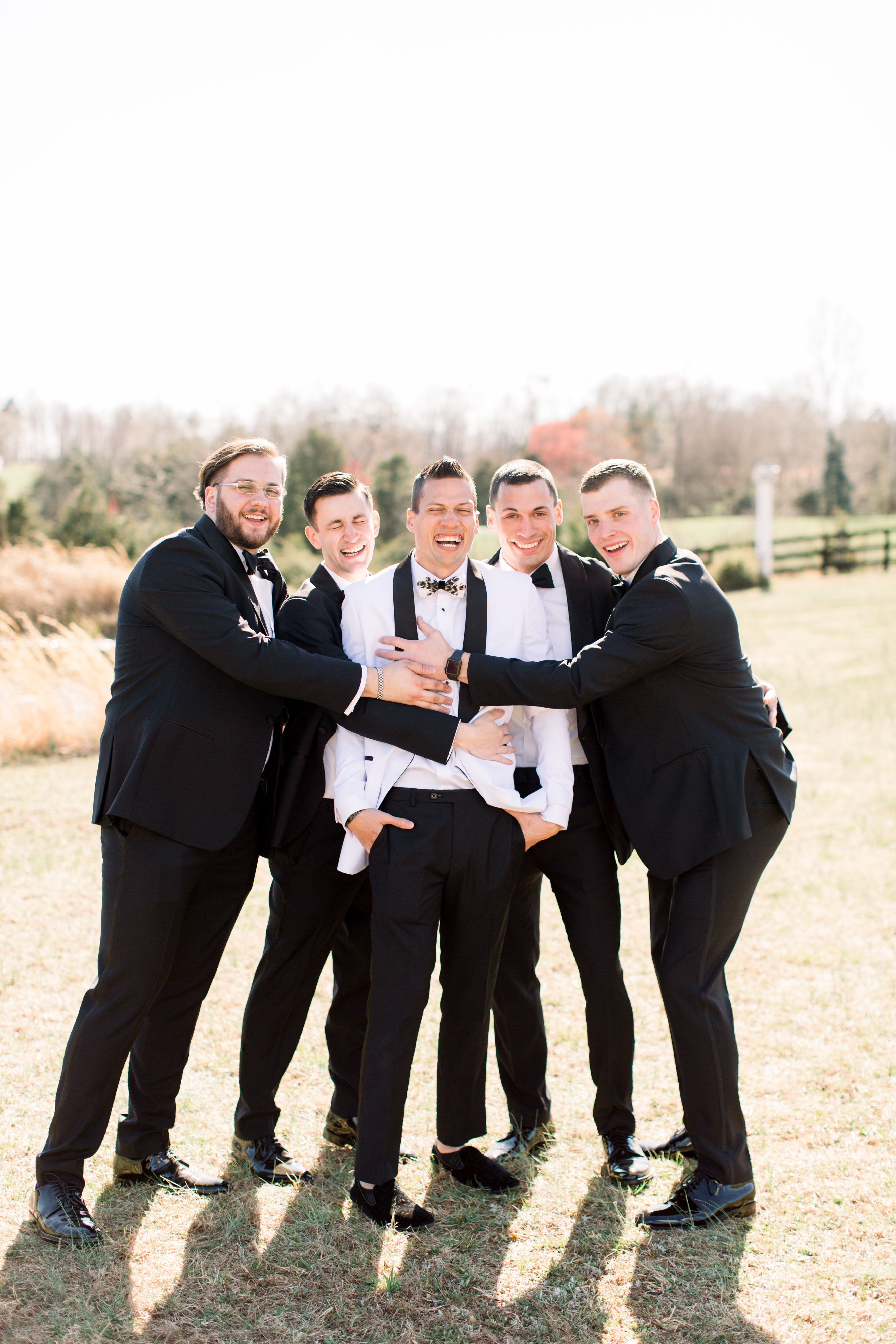 michelle nathan wedding groom and groomsmen