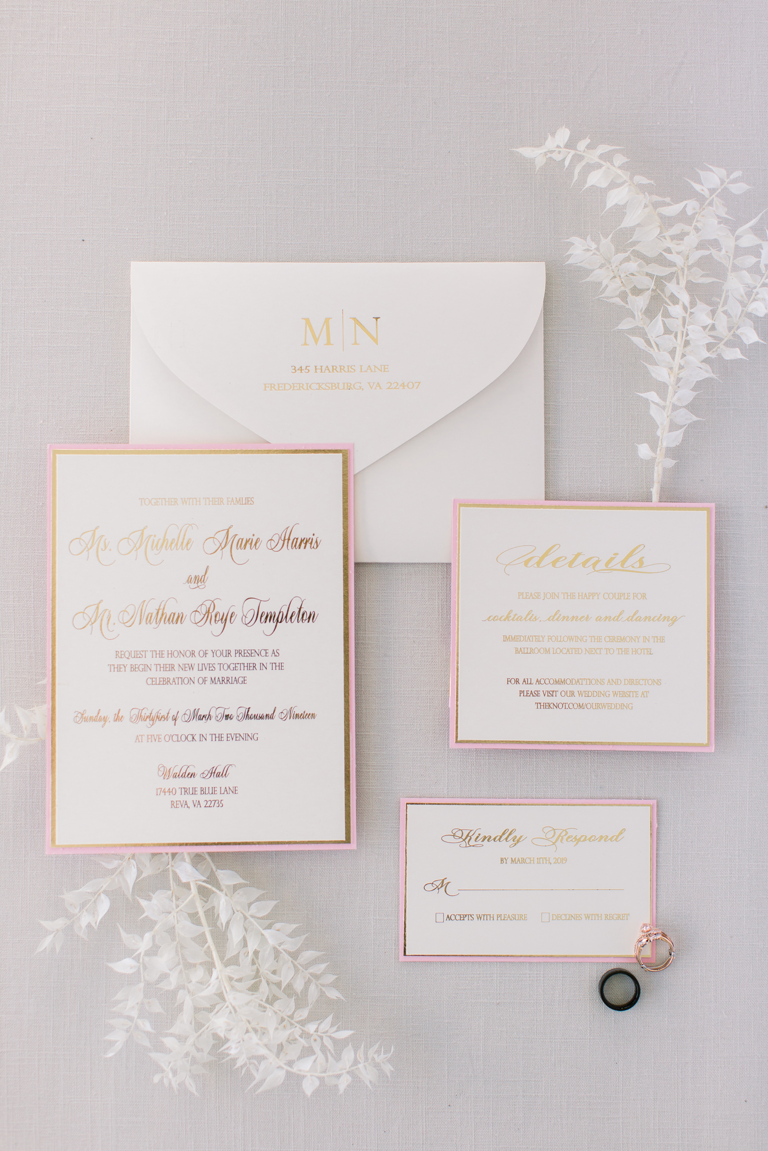 michelle nathan wedding stationery invitation suite