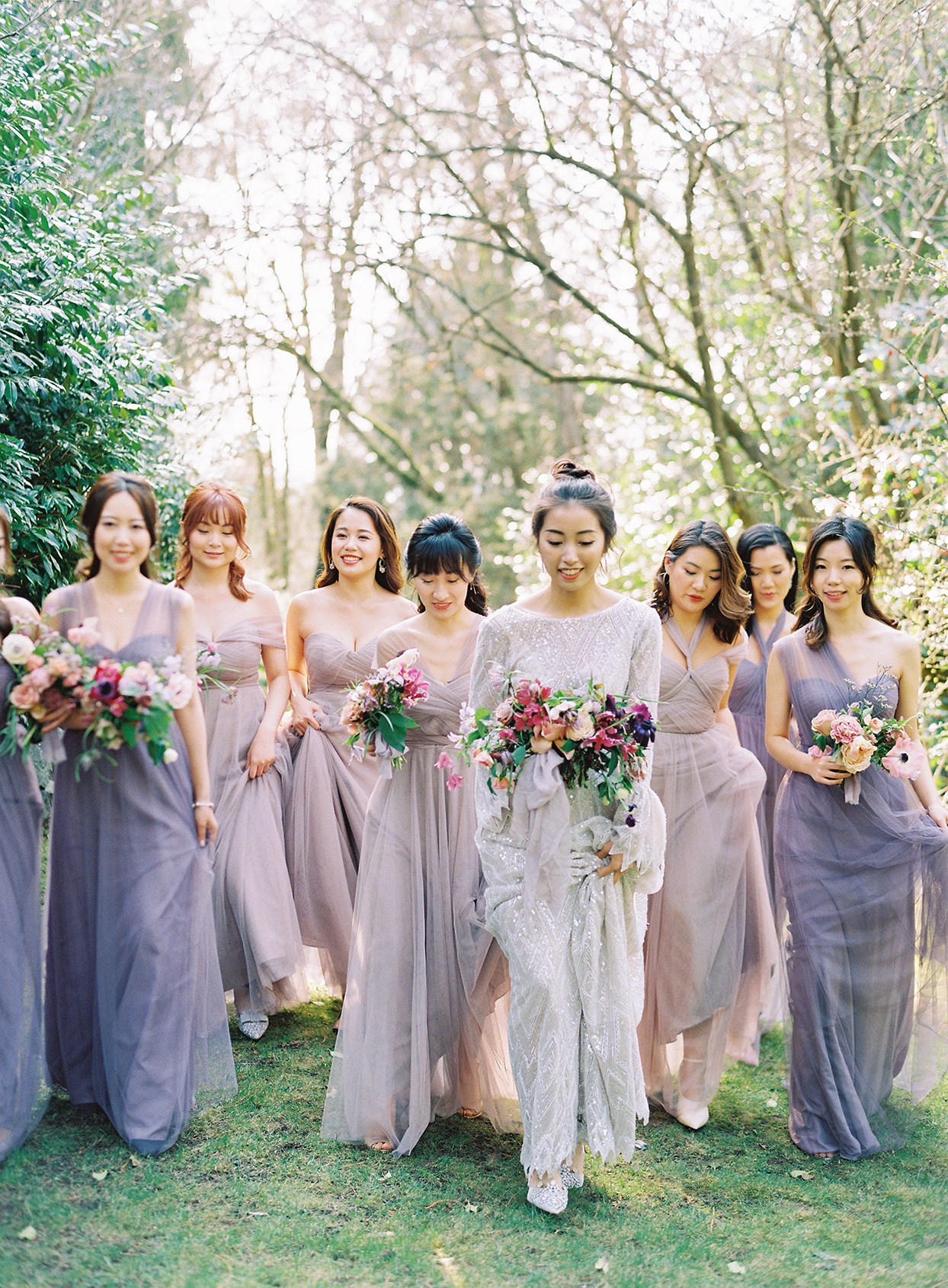 jackie ben bridal party in purple