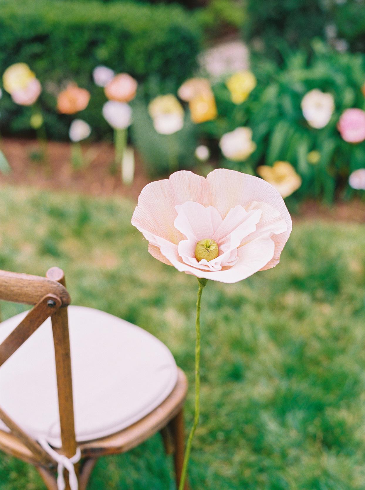 ashley scott wedding ceremony flower