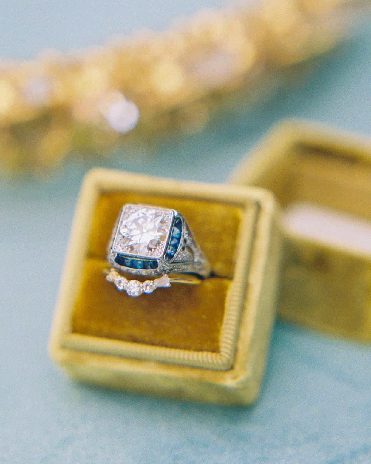 ashley scott wedding engagement ring in yellow box