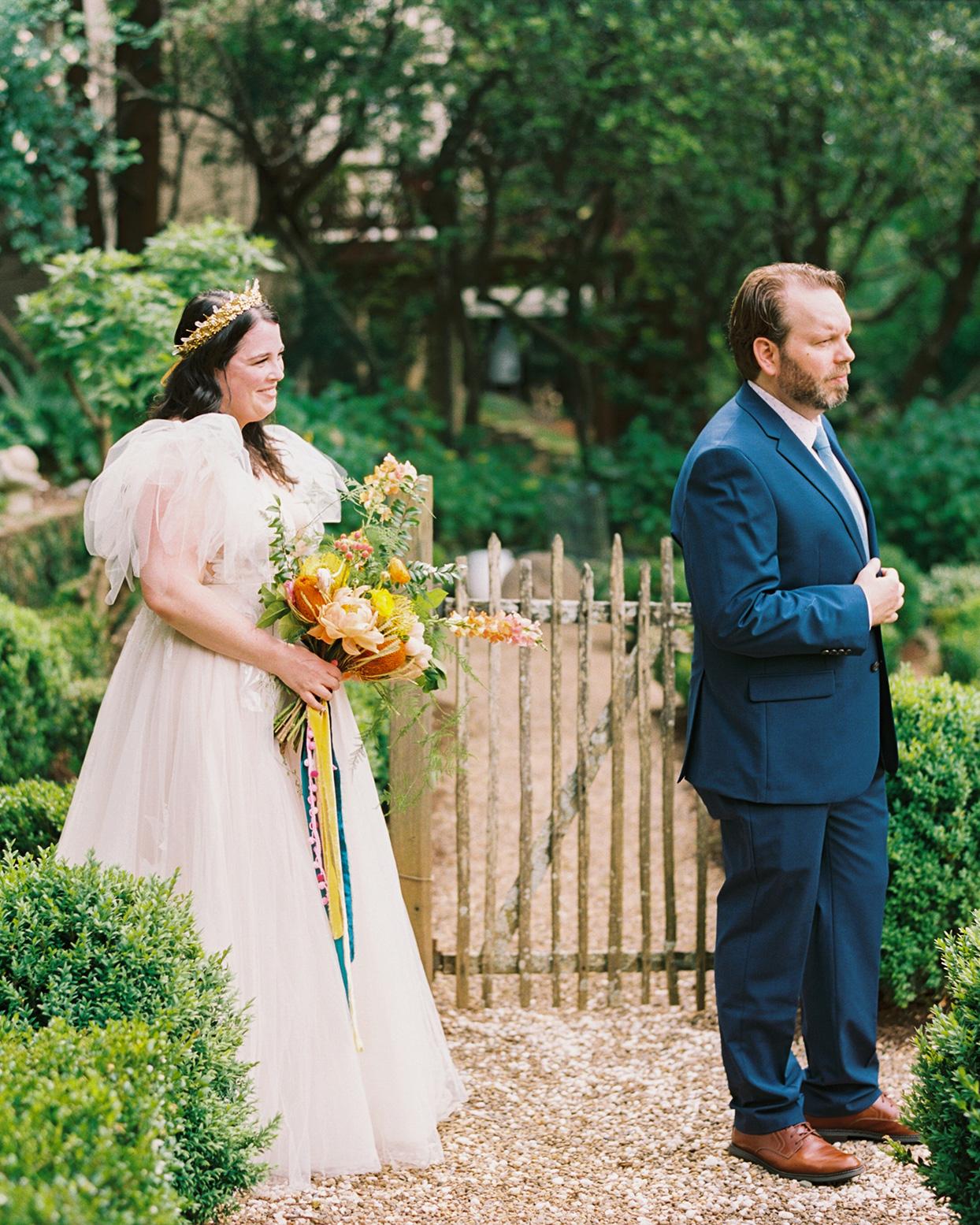 ashley scott wedding first look