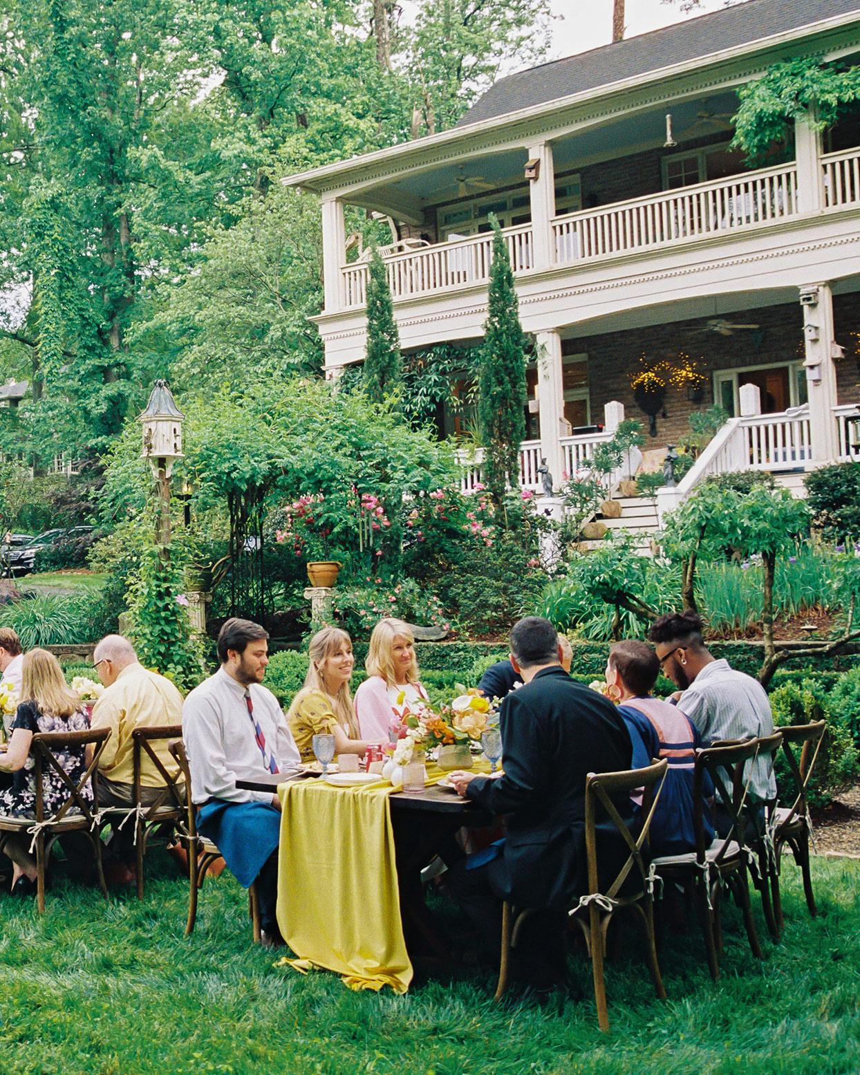 ashley scott outdoor reception tables on lawn