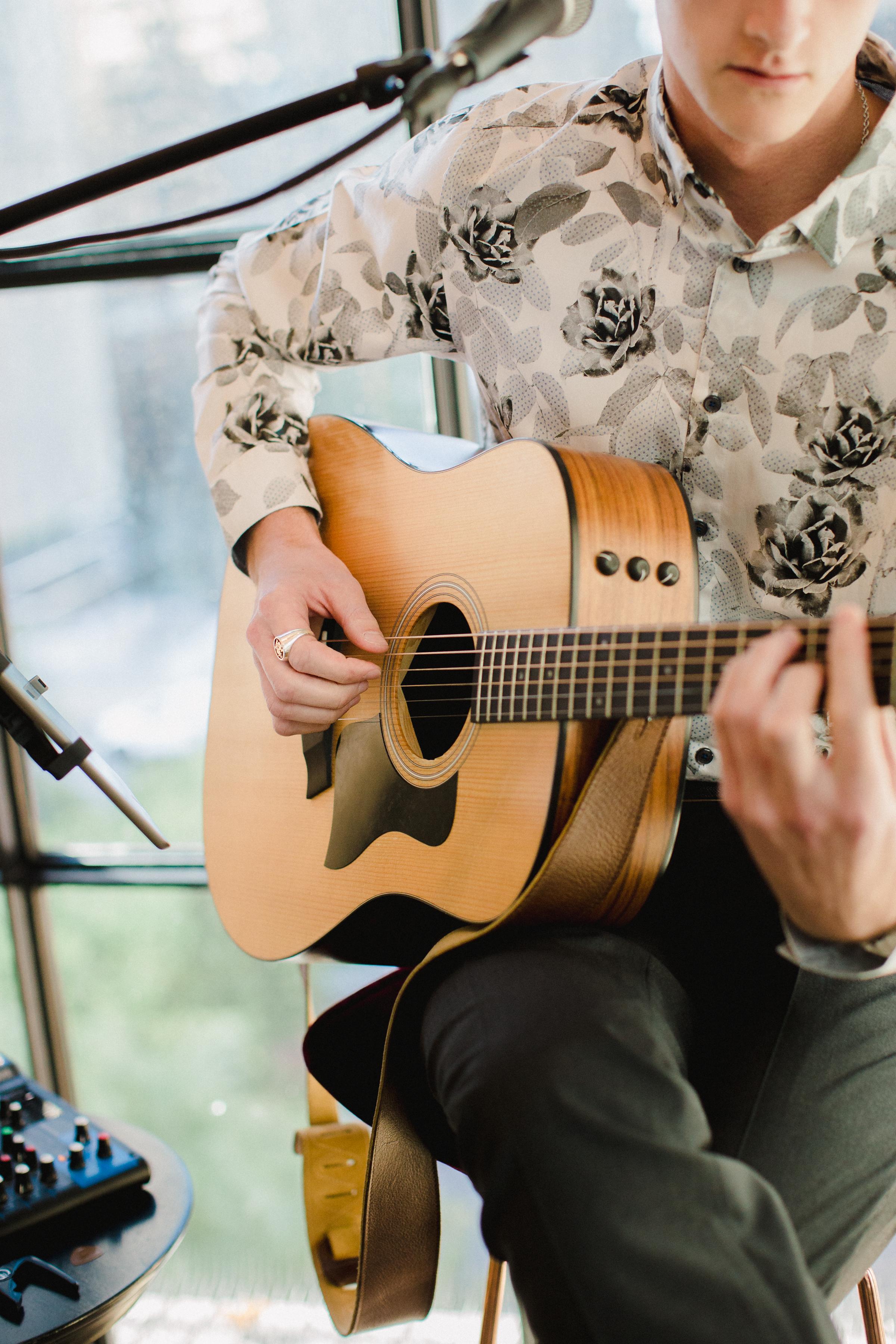 olivia collin rehearsal dinner guitarist