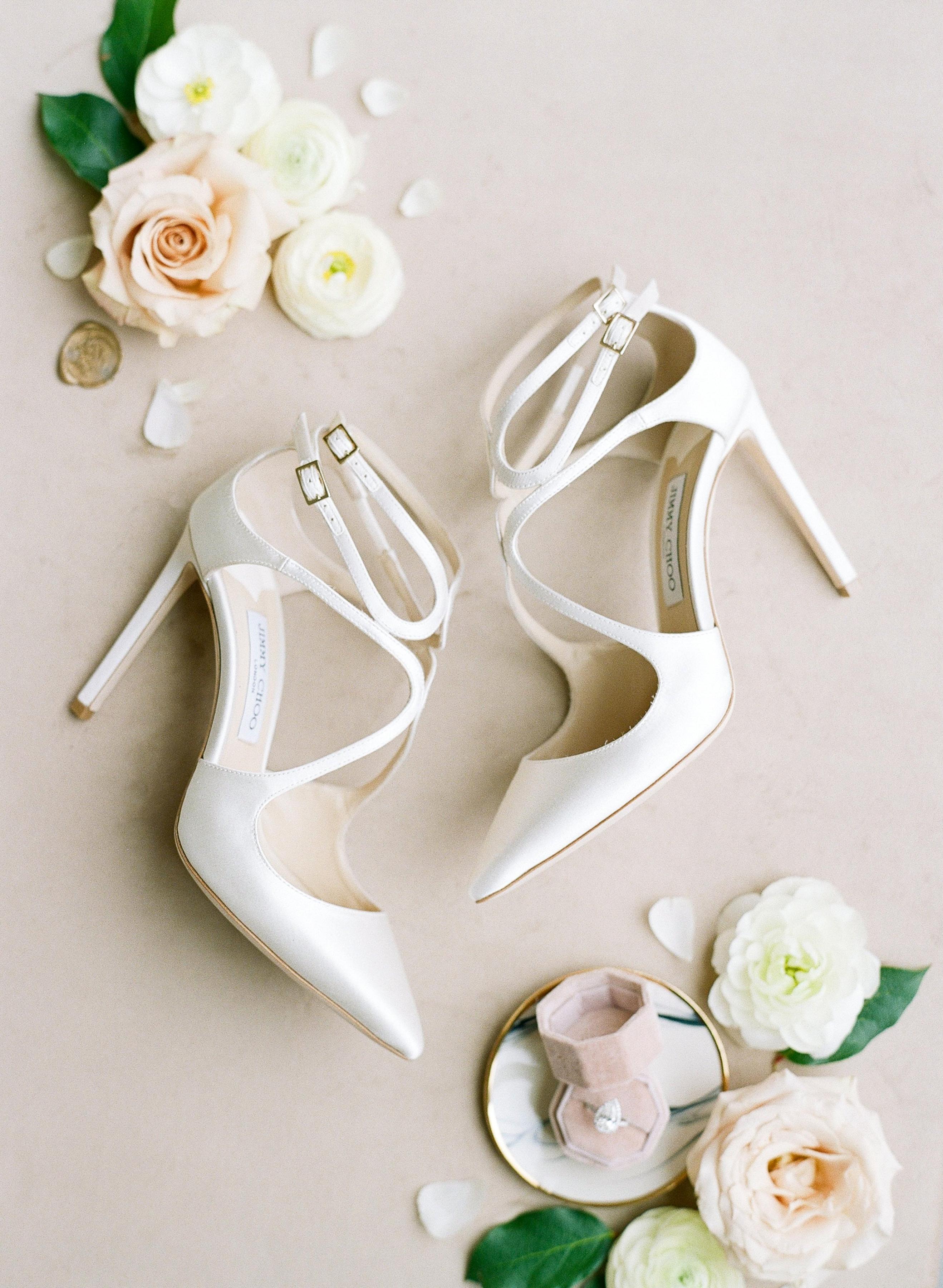 olivia couple wedding bride's jimmy choo shoes