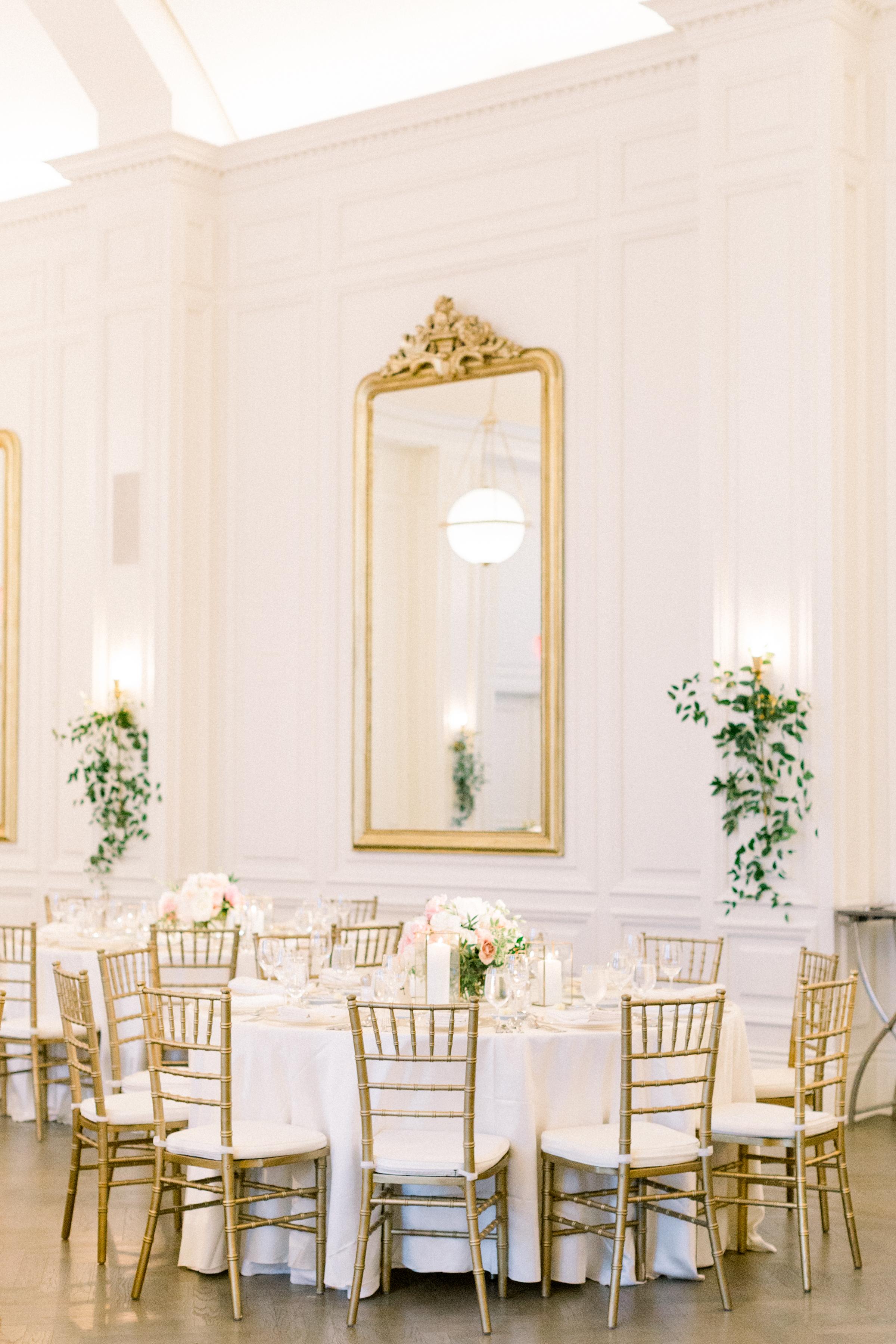 olivia collin wedding reception round tables