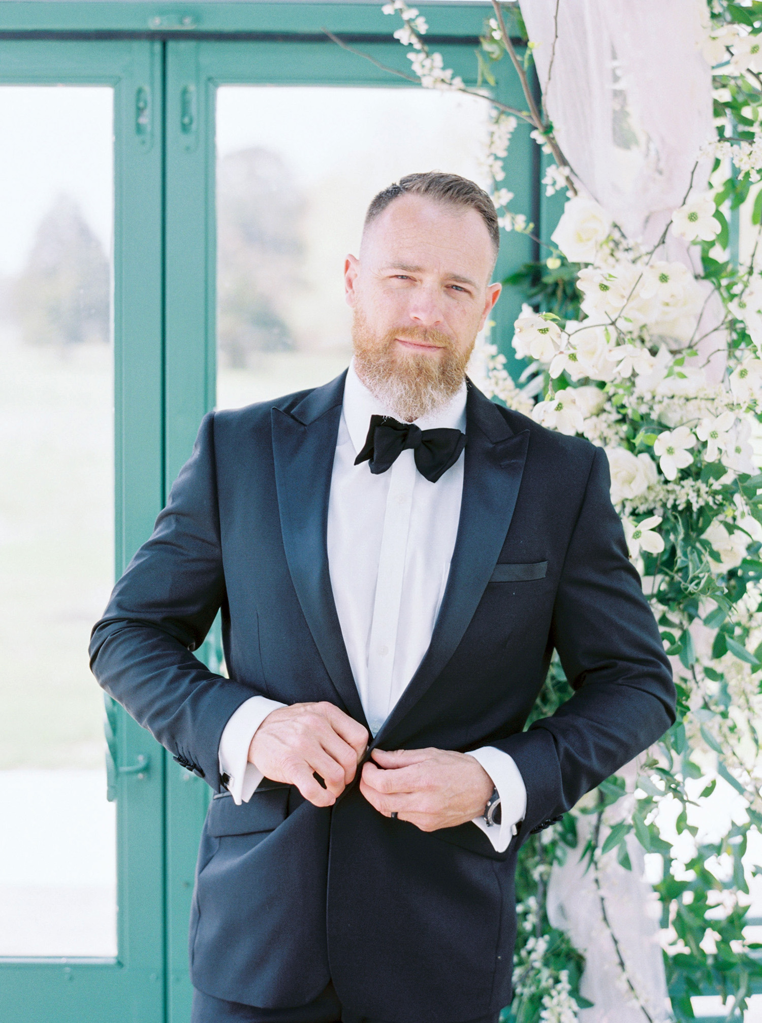 evan dustin vow renewal groom suit