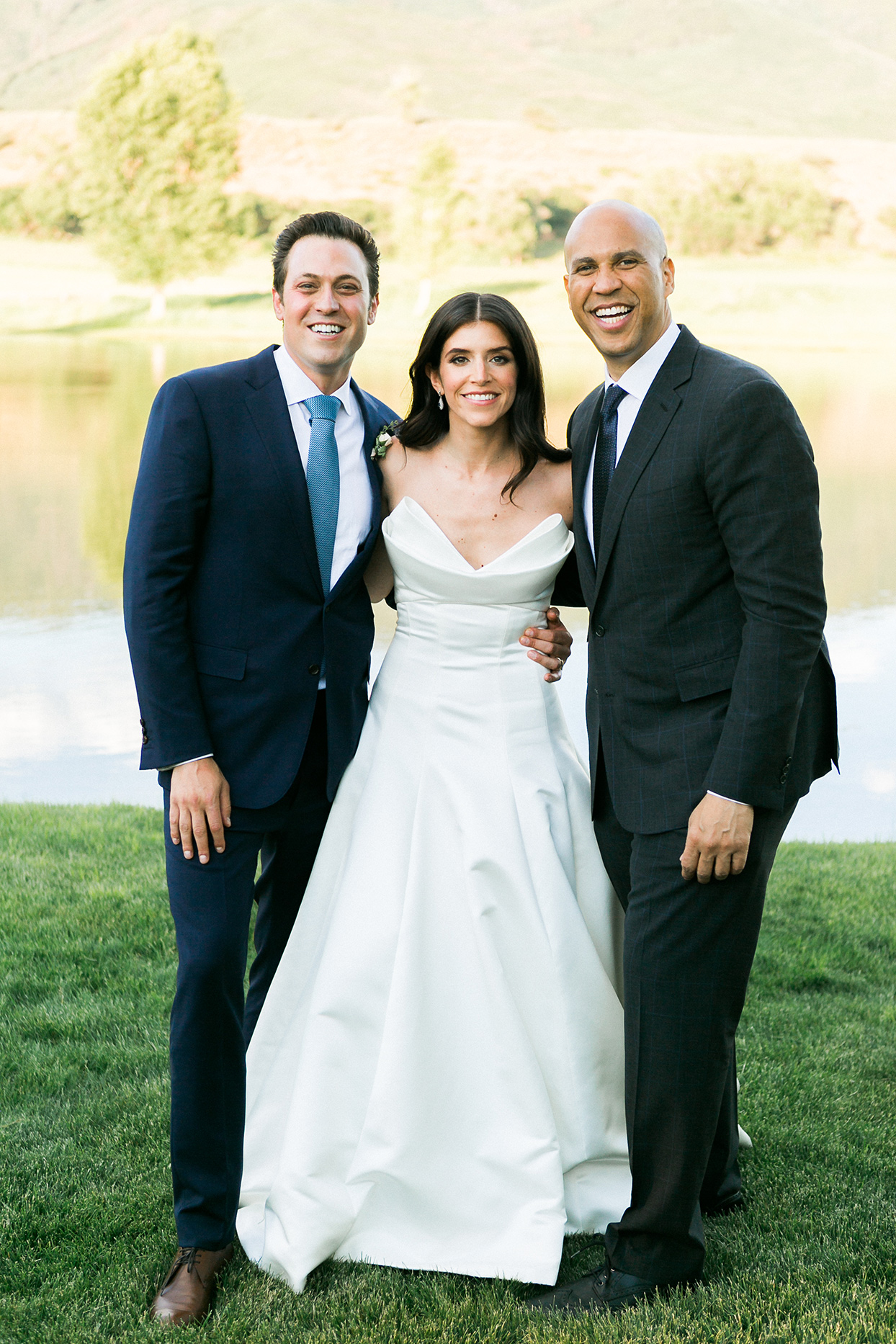 Senator Cory Booker Officiated This Couple's Organic Lakeside Wedding in Aspen, Colorado