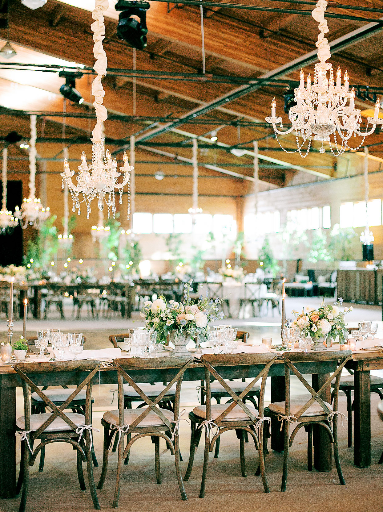 jessica aaron rustic wedding reception space