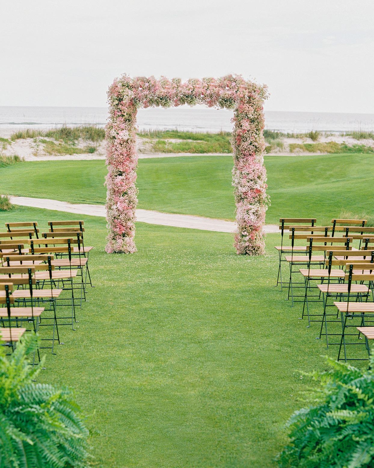 lauren dan wedding ceremony site by the water