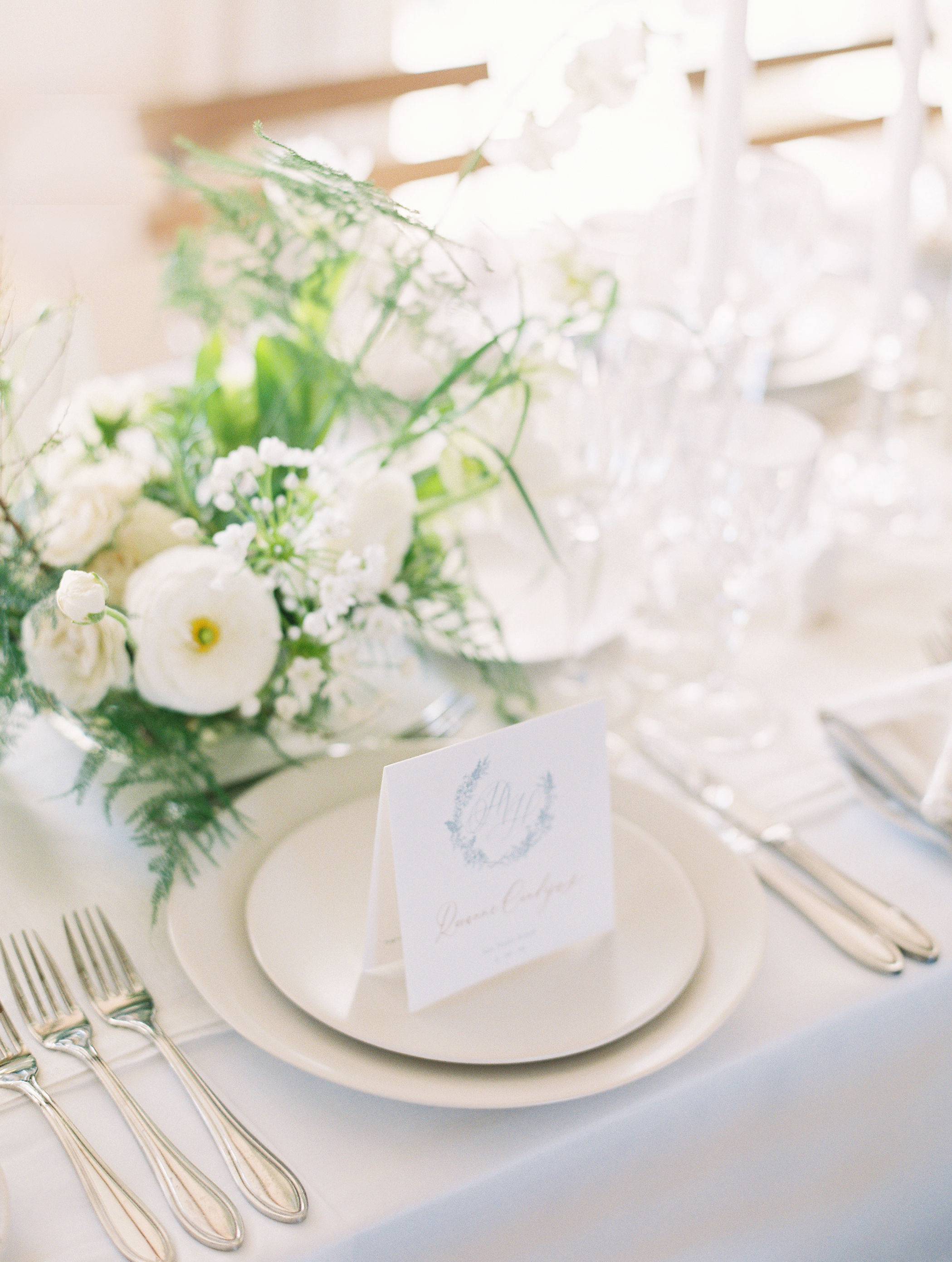place setting table card