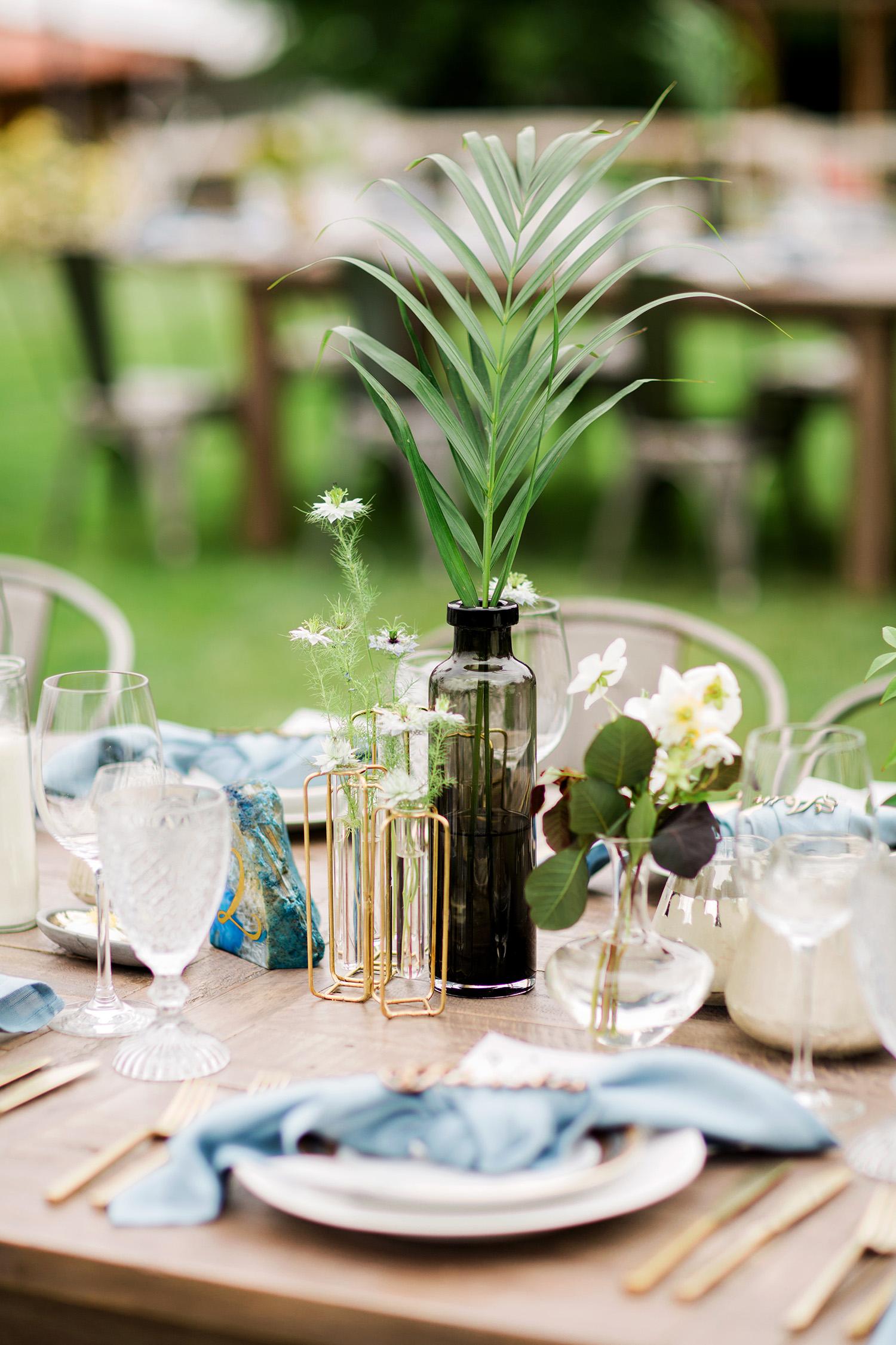 david tim wedding centerpiece table