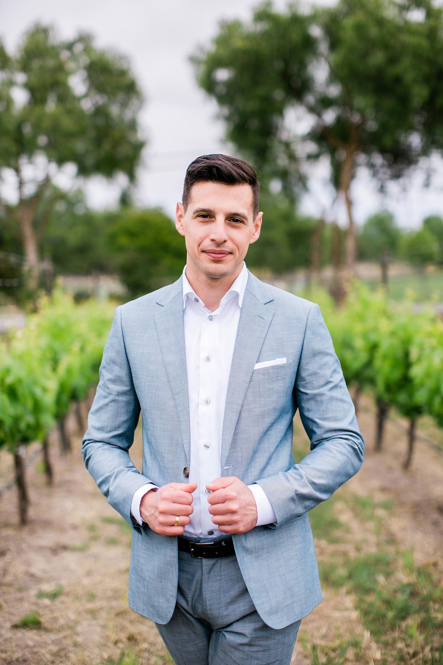 david tim wedding groom