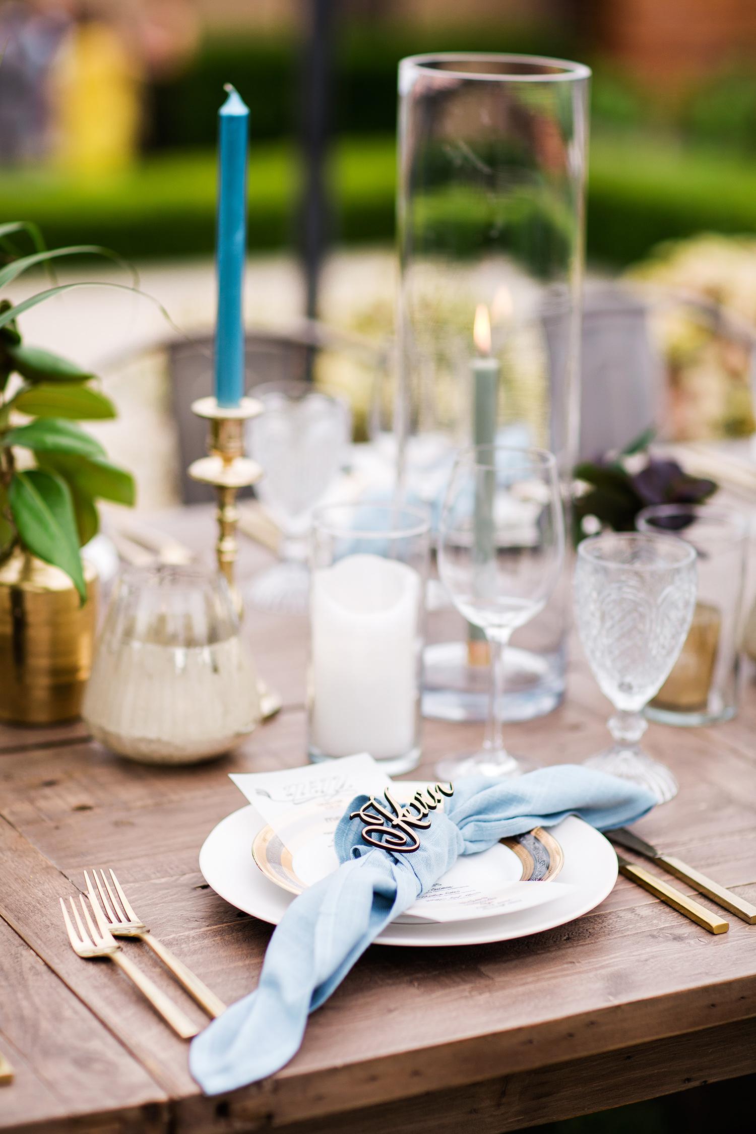 david tim wedding place setting